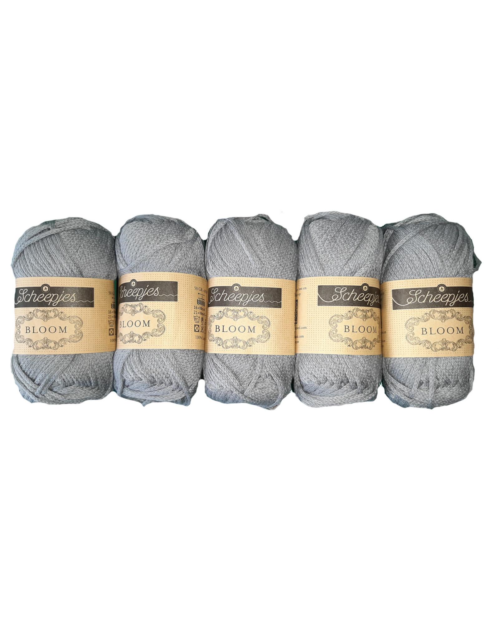 Scheepjes Scheepjes Bloom kleur 421 Grey Thistle bundel 5 x 50 gr.