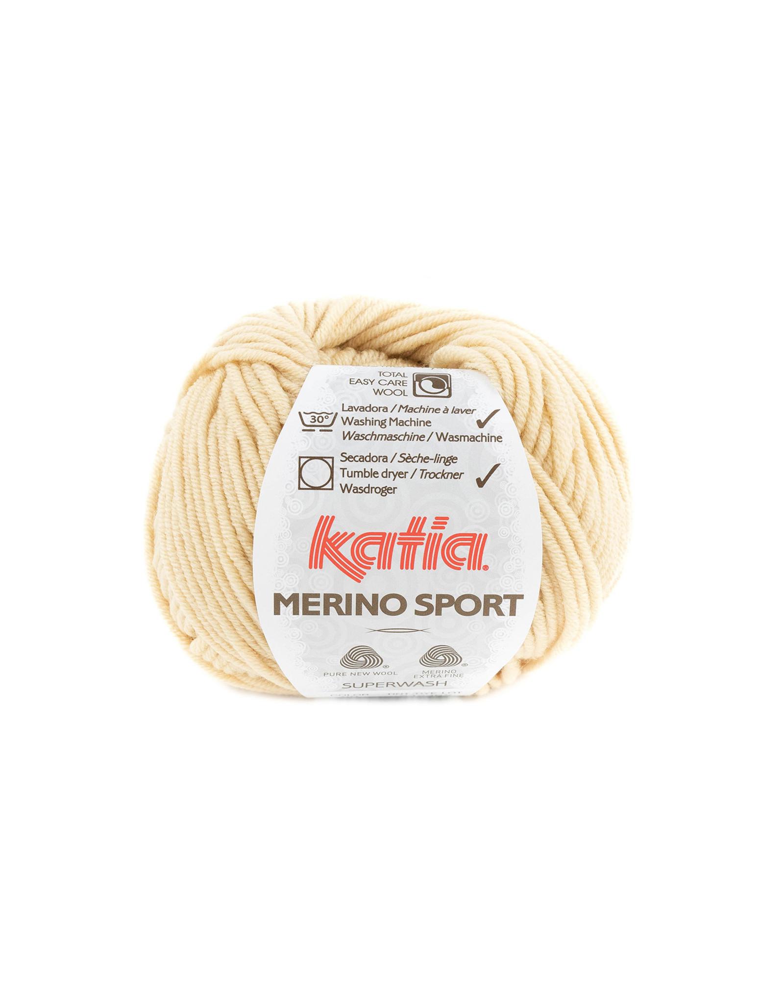 Katia Katia - Merino Sport - 60 Zandgeel - bundel 5 x 50 gr.