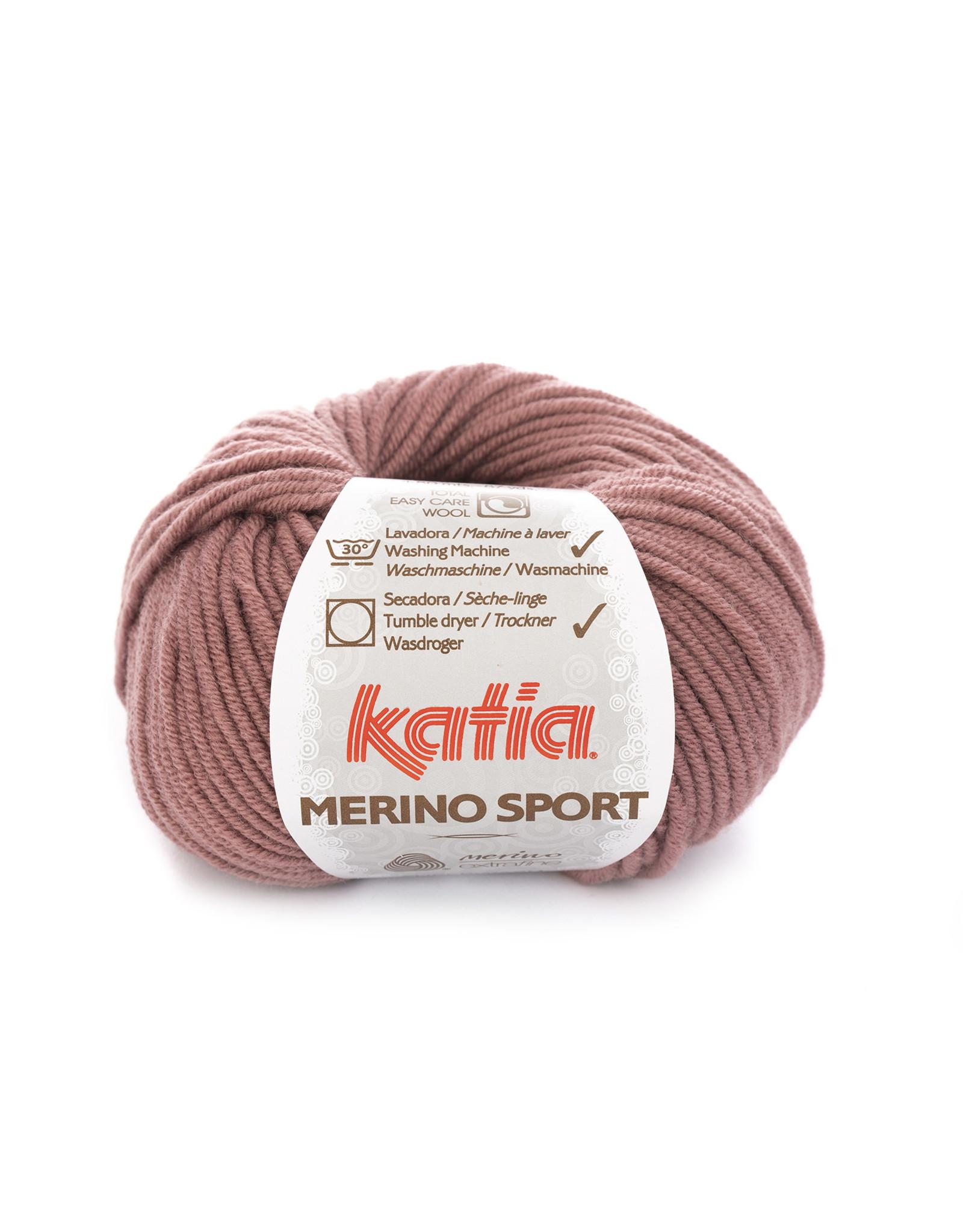 Katia Katia - Merino Sport - 55 Donker bleekrood - bundel 5 x 50 gr.