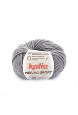 Katia Katia - Merino Sport - 401 Medium grijs - bundel 5 x 50 gr.