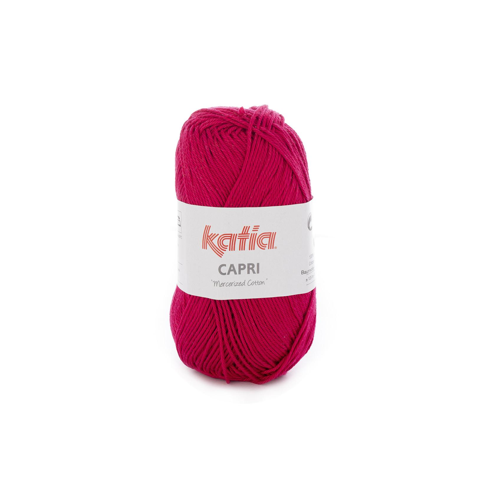Katia Katia Capri - kleur 129 Donker fuchsia - 50 gr. = 125 m. - 100% katoen