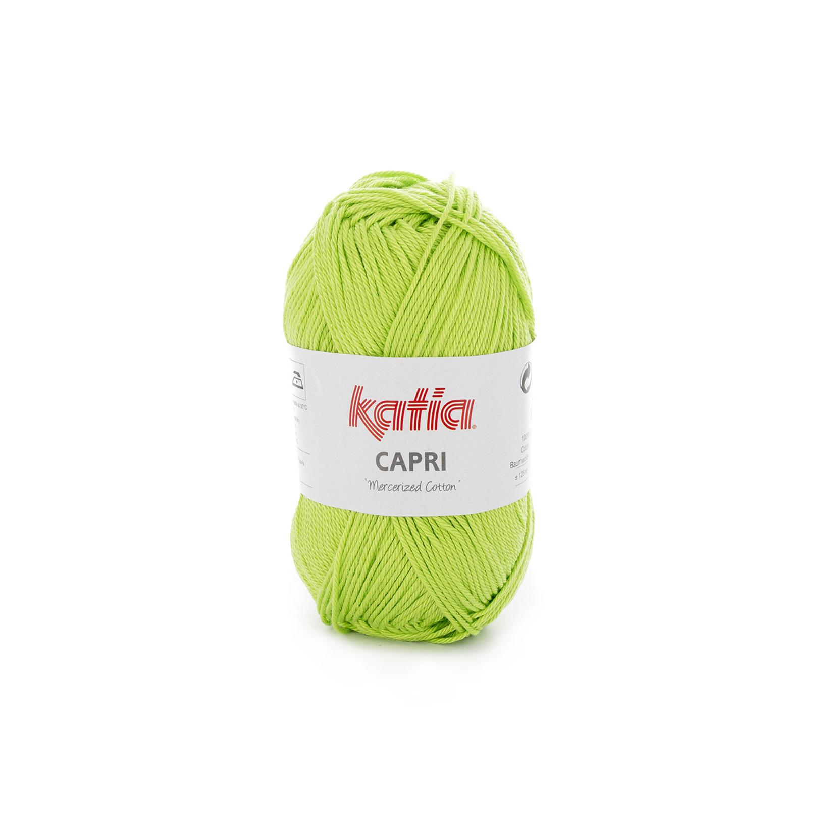 Katia Katia Capri - kleur 160 Geelgroen - 50 gr. = 125 m. - 100% katoen