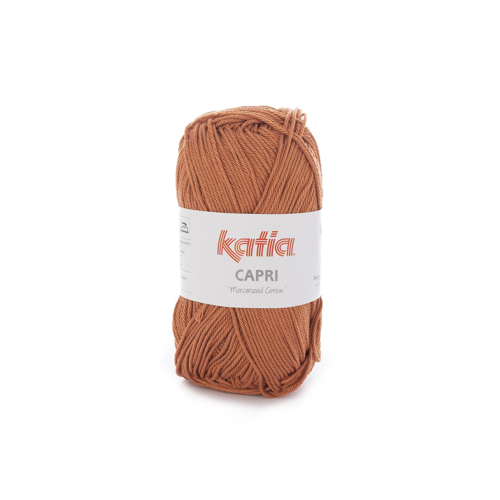 Katia Katia Capri - kleur 166 Roestbruin - 50 gr. = 125 m. - 100% katoen