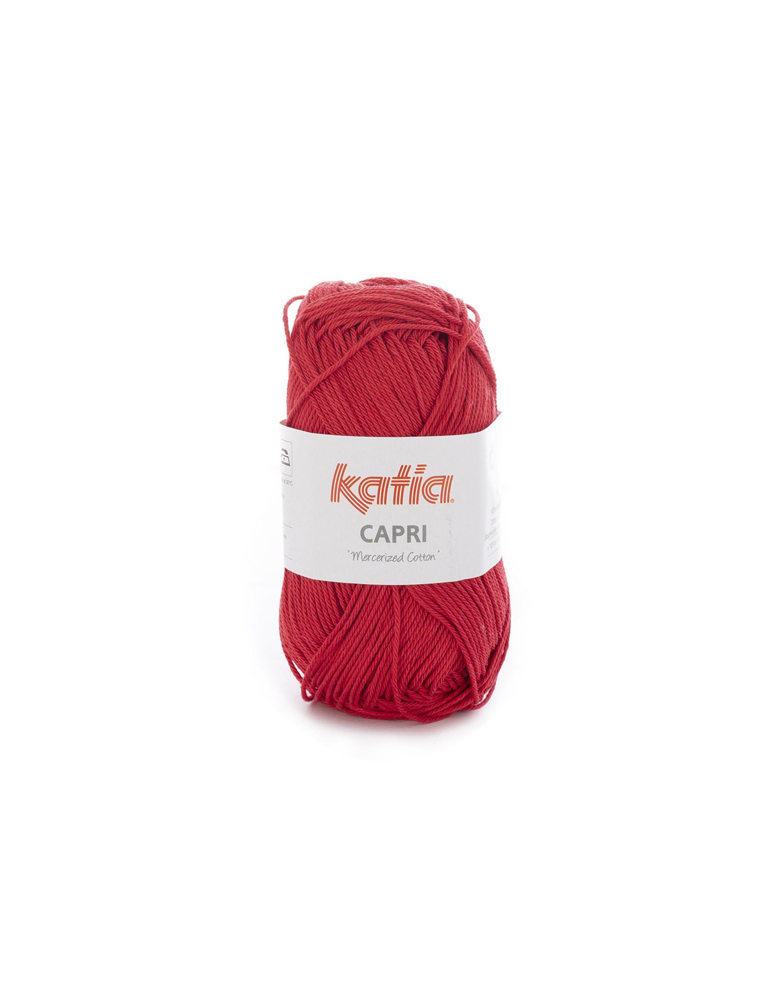 Katia Katia Capri - kleur 59 Rood - 50 gr. = 125 m. - 100% katoen