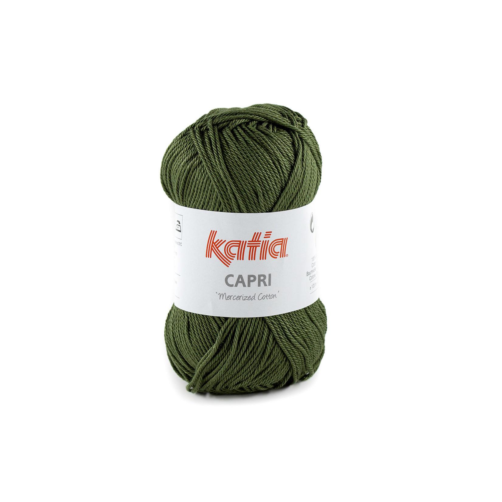 Katia Katia Capri - kleur 175 Olijfgroen - 50 gr. = 125 m. - 100% katoen