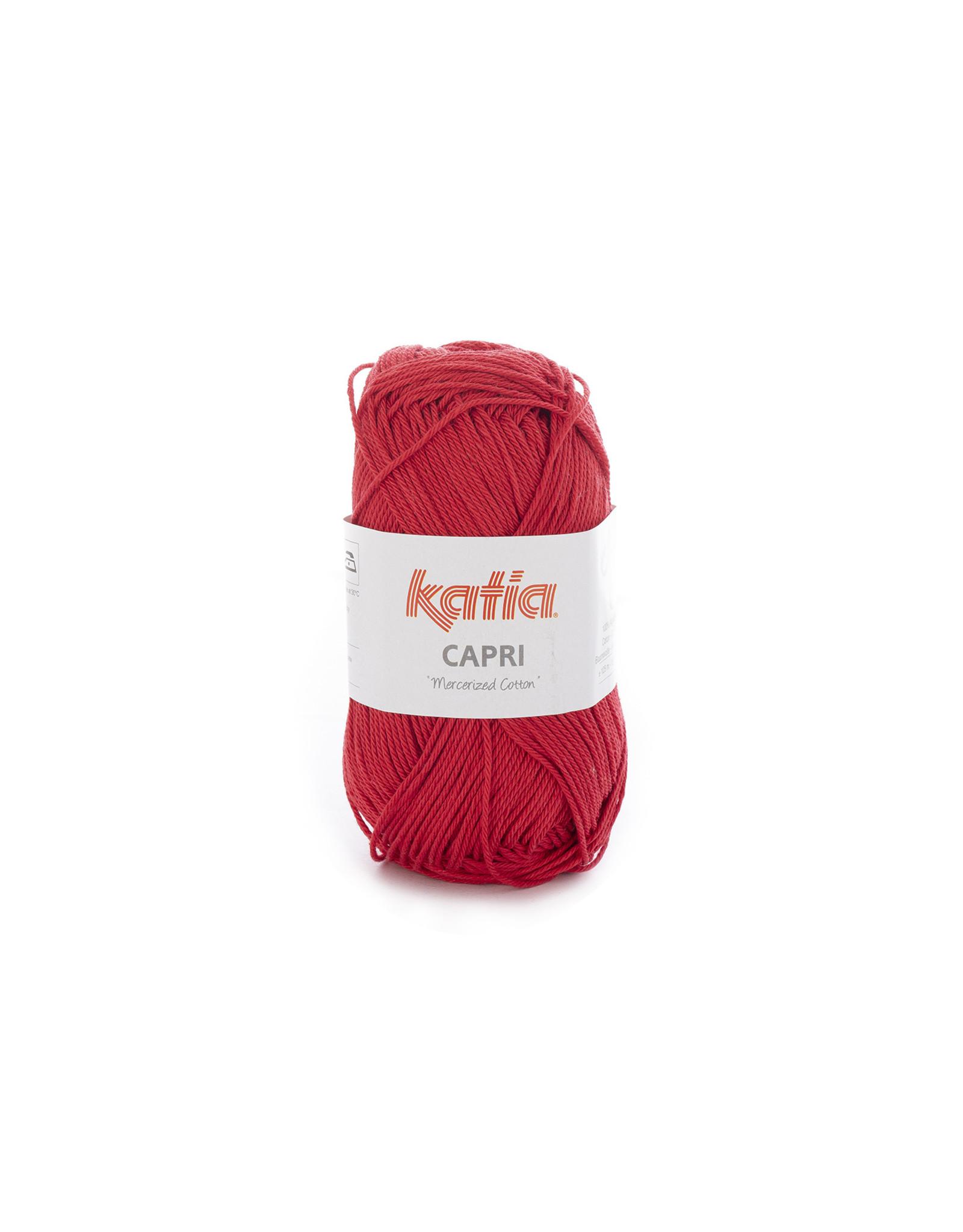 Katia Katia Capri - kleur 59 Rood - bundel 5 x 50 gr. / 125 m. - 100% katoen