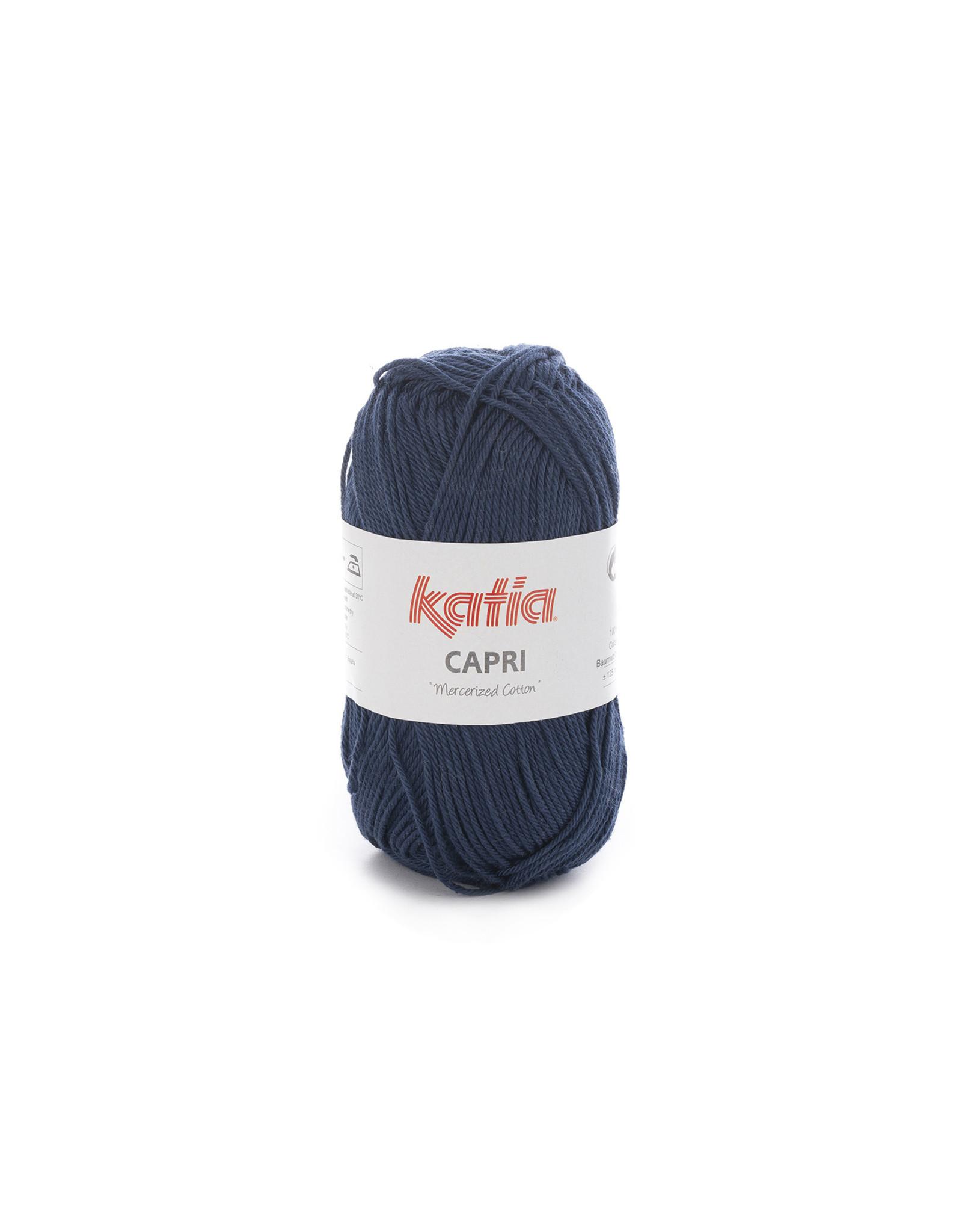 Katia Katia Capri - kleur 66 Donker blauw - bundel 5 x 50 gr. / 125 m. - 100% katoen