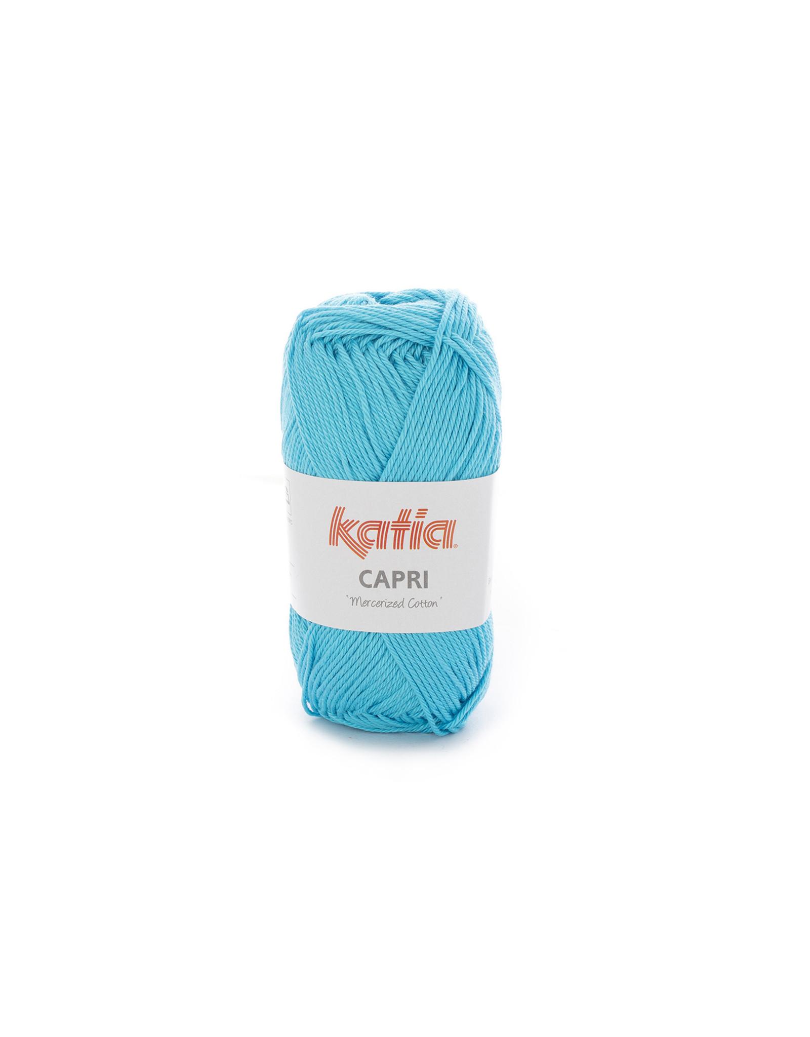 Katia Katia Capri - kleur 101 Turquoise - bundel 5 x 50 gr. / 125 m. - 100% katoen