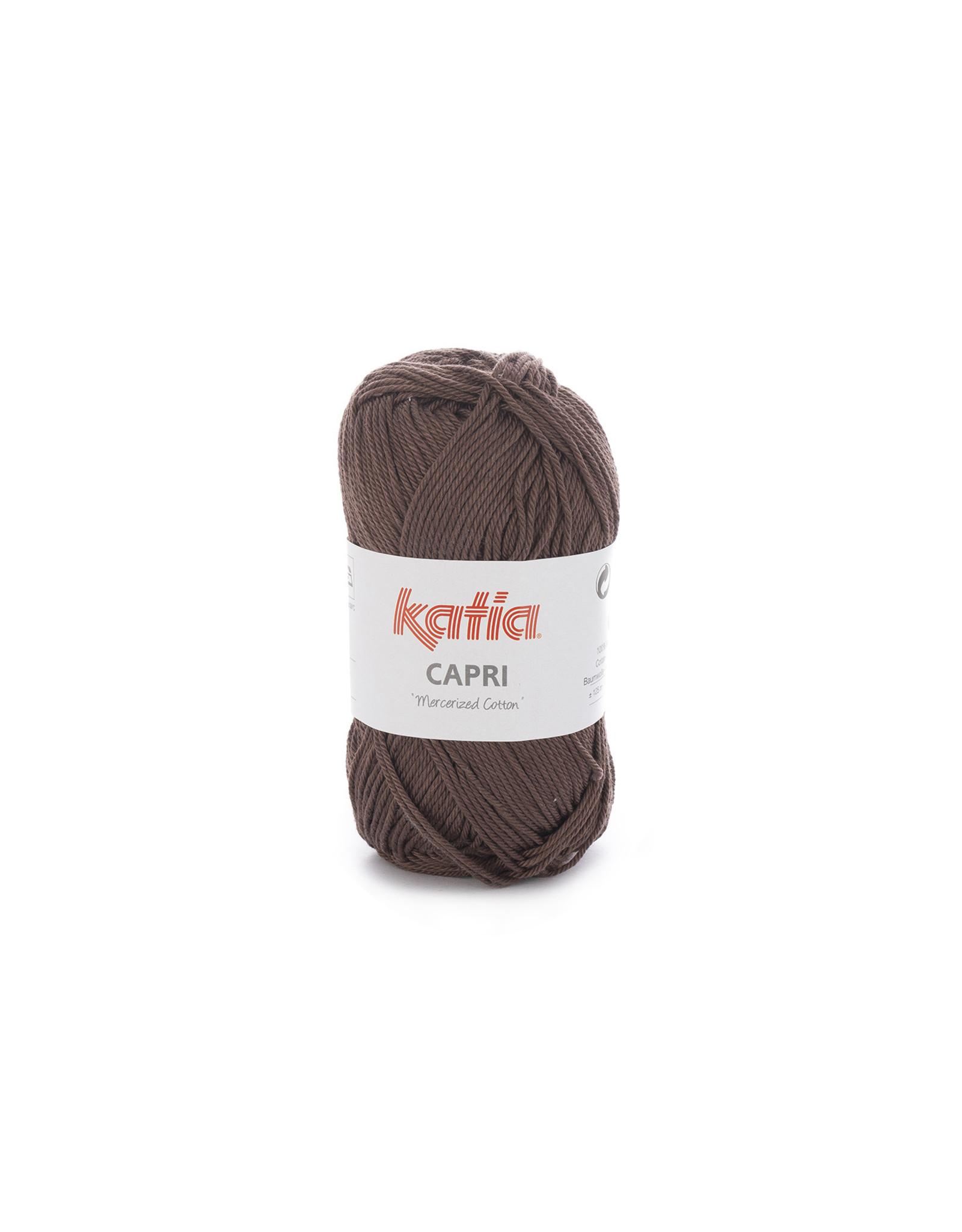 Katia Katia Capri - kleur 127 Donker bruin - bundel 5 x 50 gr. / 125 m. - 100% katoen