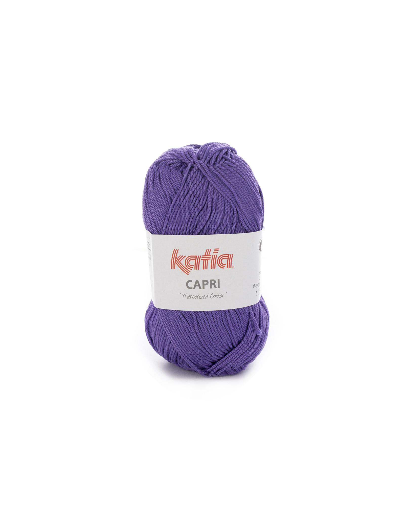 Katia Katia Capri - kleur 131 Donkerlila - bundel 5 x 50 gr. / 125 m. - 100% katoen