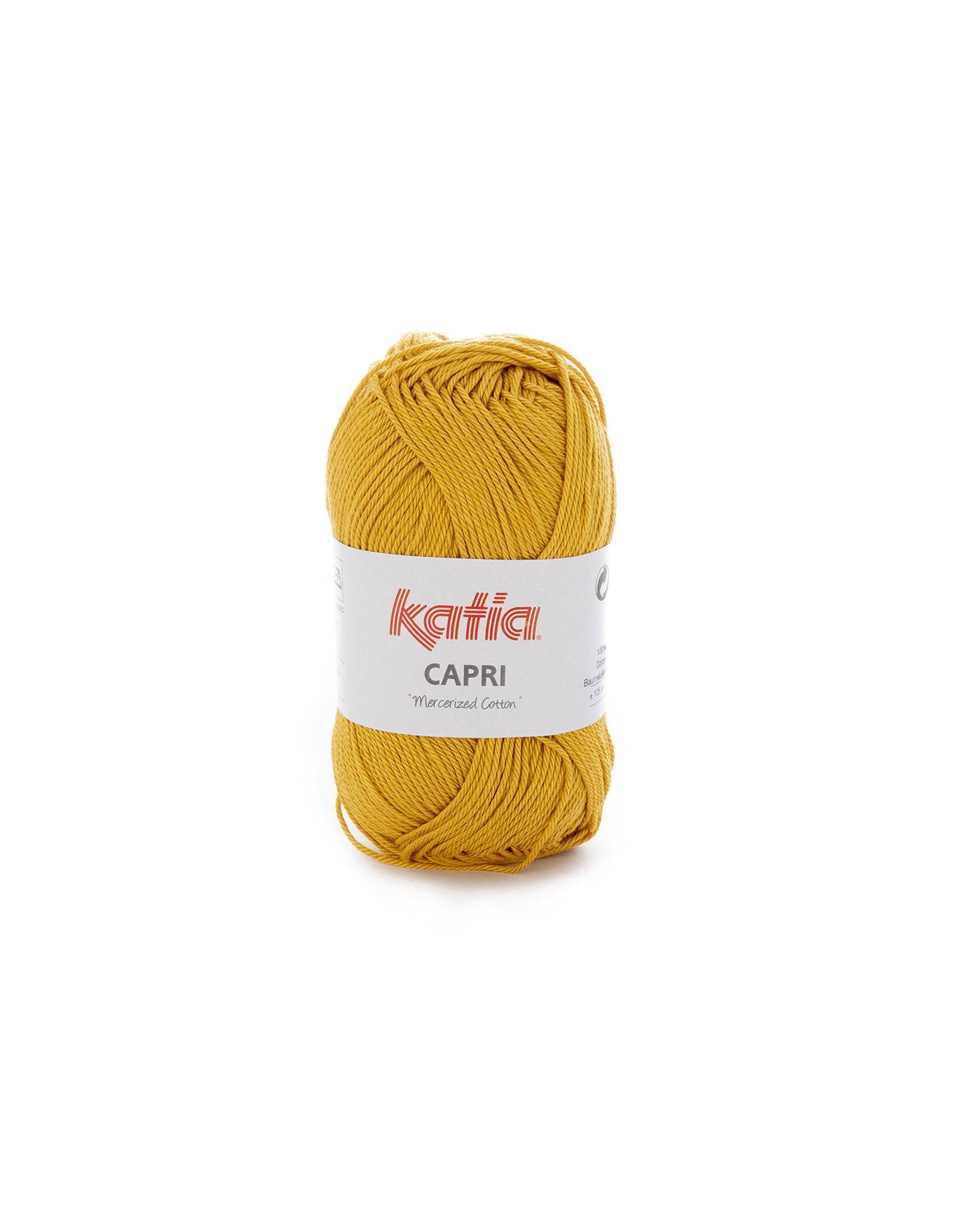 Katia Katia Capri - kleur 144 Mosterdgeel - bundel 5 x 50 gr. / 125 m. - 100% katoen