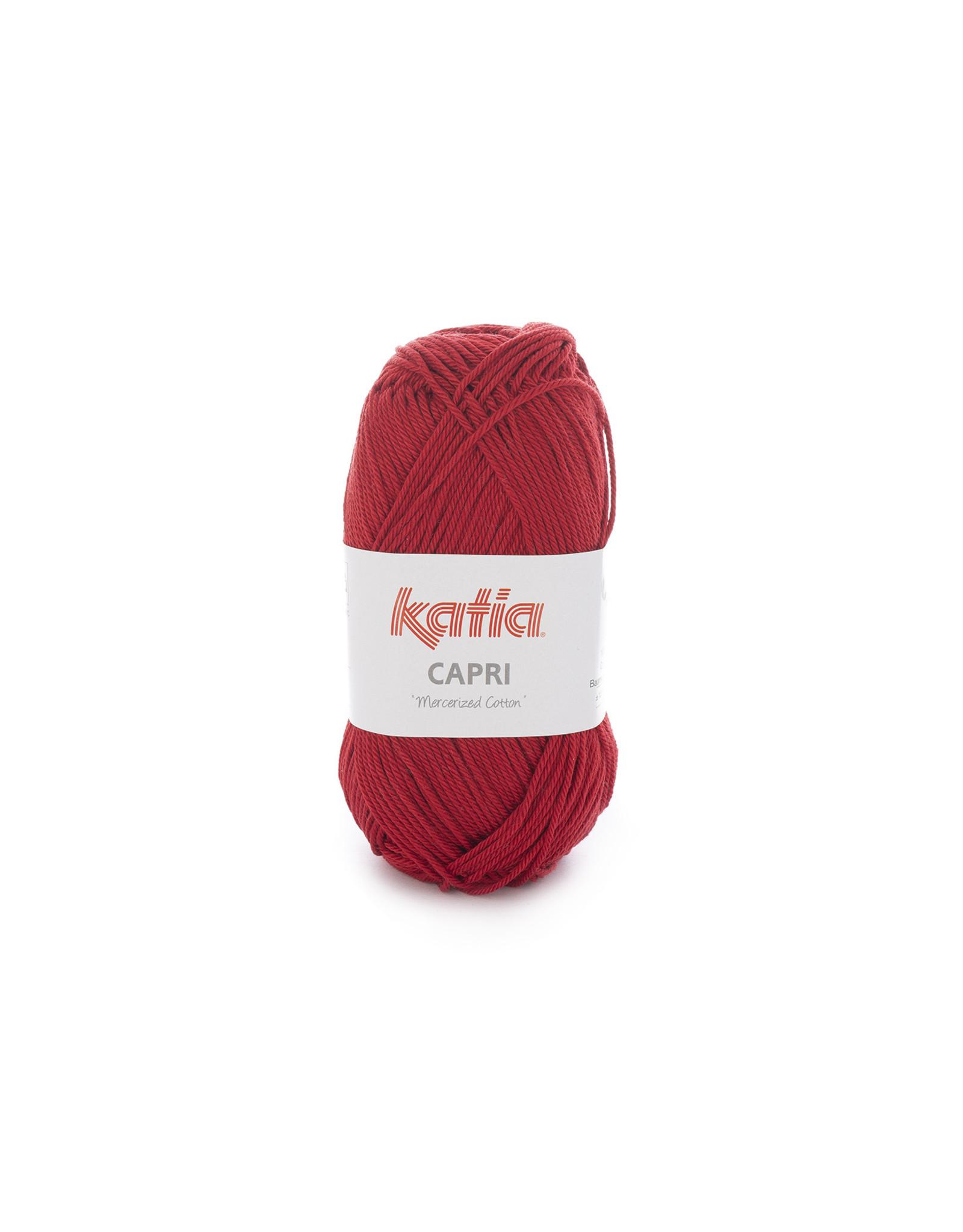 Katia Katia Capri - kleur 150 Wijnrood - bundel 5 x 50 gr. / 125 m. - 100% katoen
