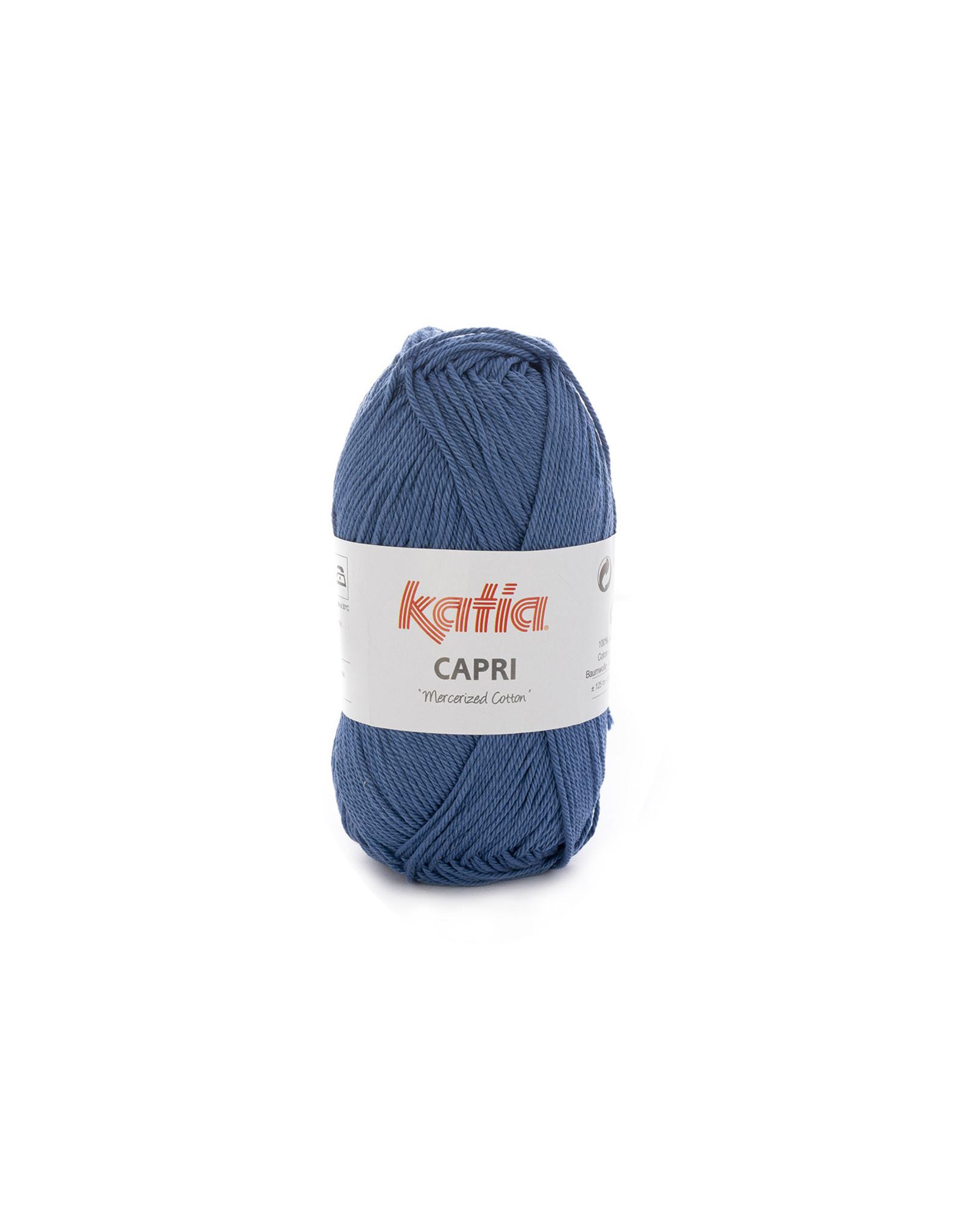Katia Katia Capri - kleur 155 Medium blauw - bundel 5 x 50 gr. / 125 m. - 100% katoen