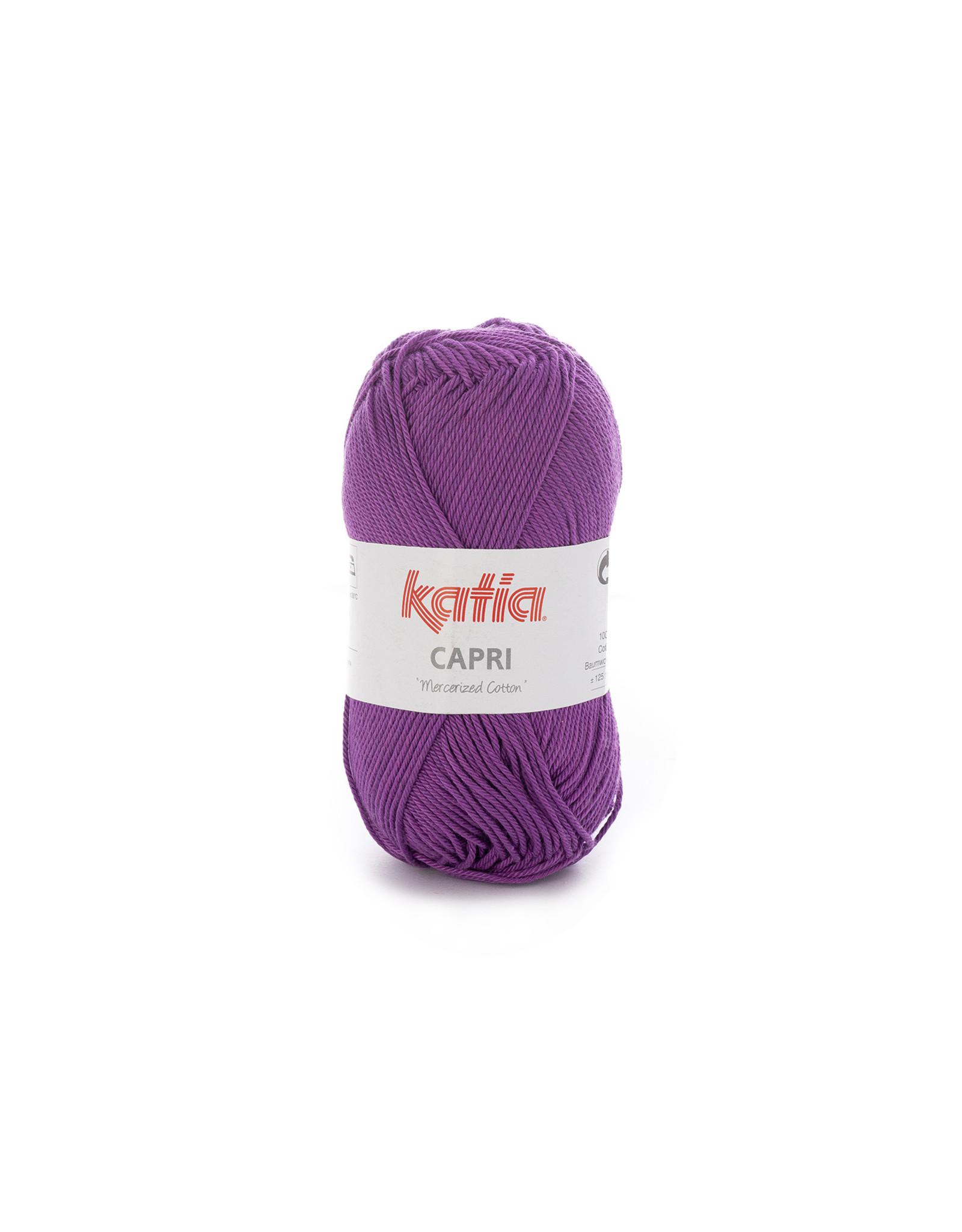 Katia Katia Capri - kleur 158 Paars - bundel 5 x 50 gr. / 125 m. - 100% katoen