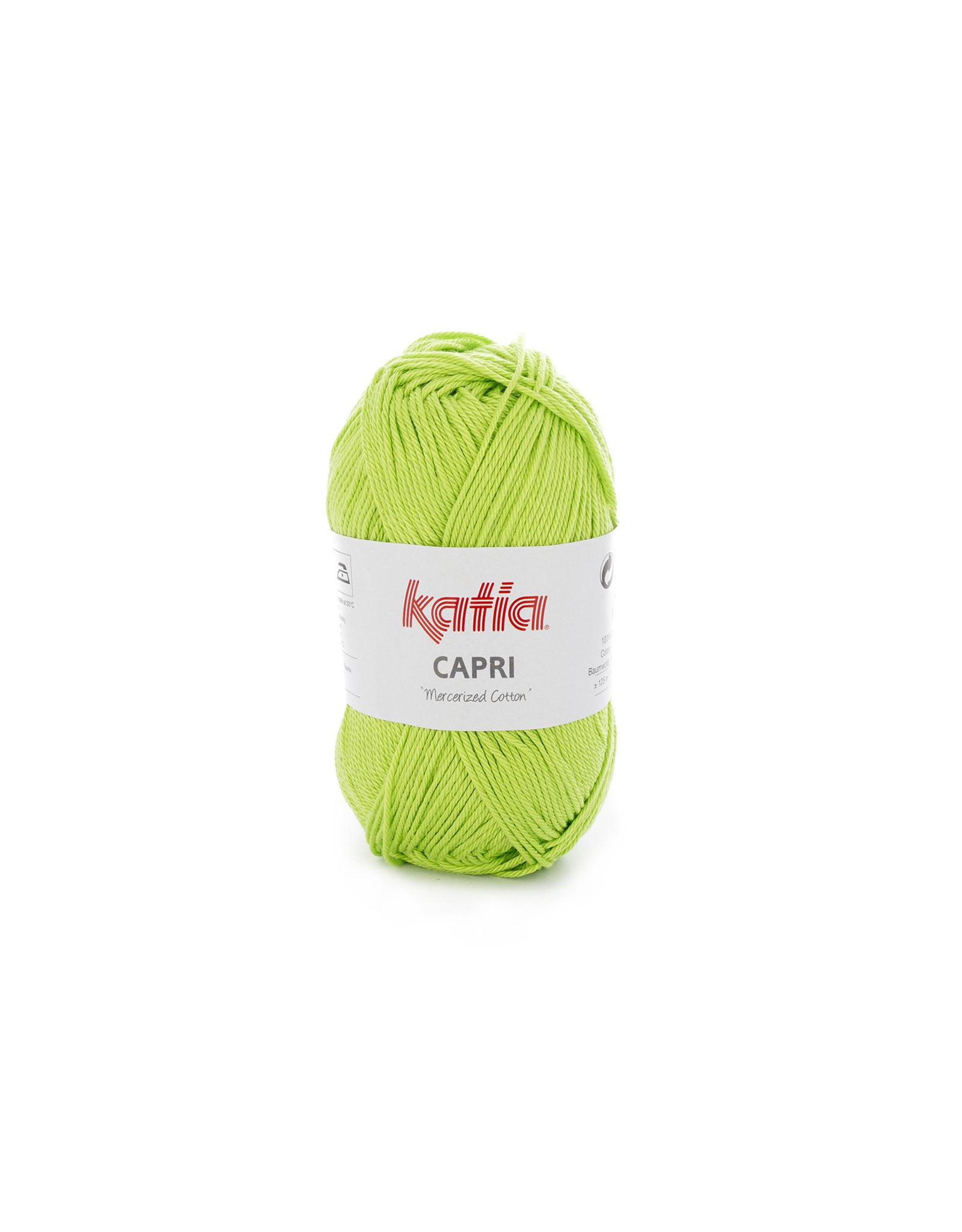 Katia Katia Capri - kleur 160 Geelgroen - bundel 5 x 50 gr. / 125 m. - 100% katoen
