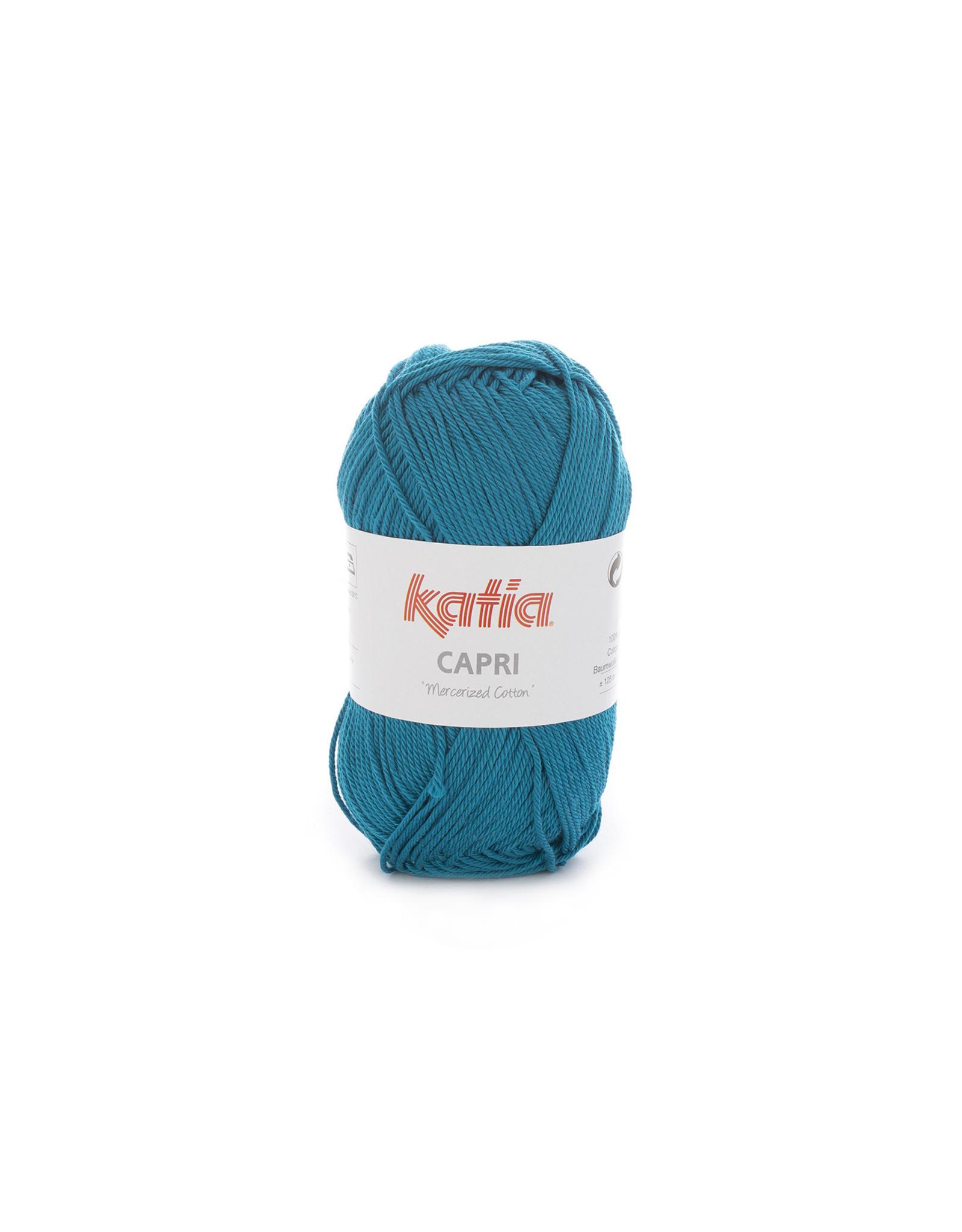 Katia Katia Capri - kleur 161 Groenblauw - bundel 5 x 50 gr. / 125 m. - 100% katoen