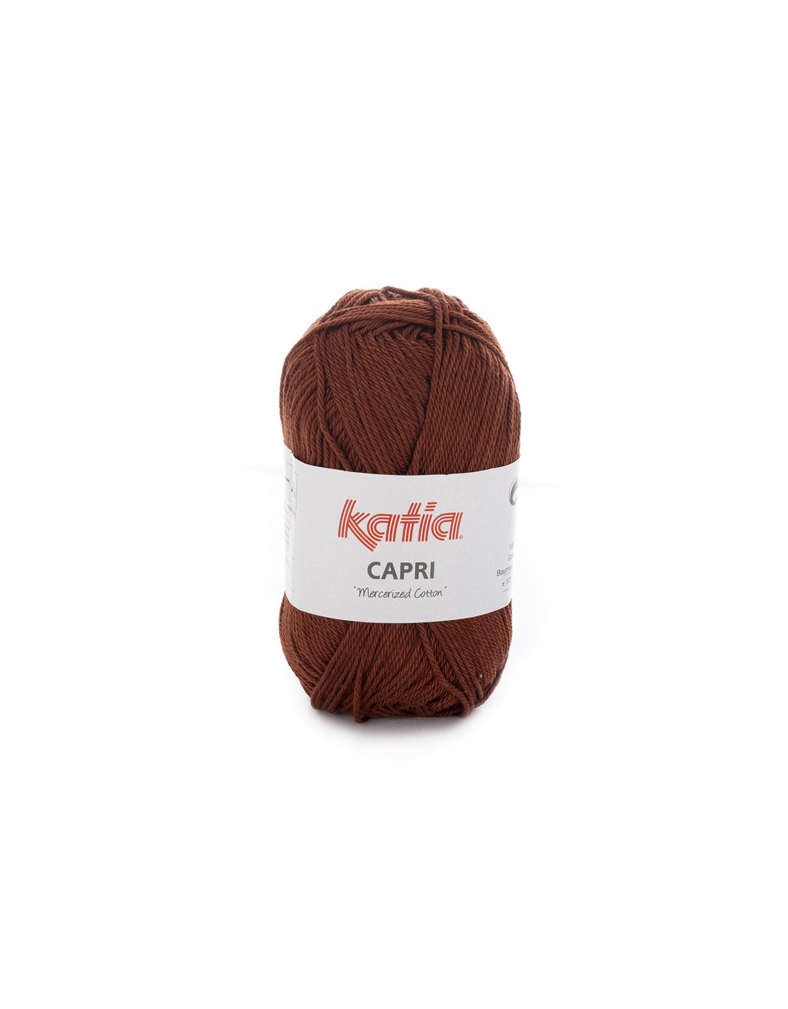 Katia Katia Capri - kleur 162 Koperbruin - bundel 5 x 50 gr. / 125 m. - 100% katoen