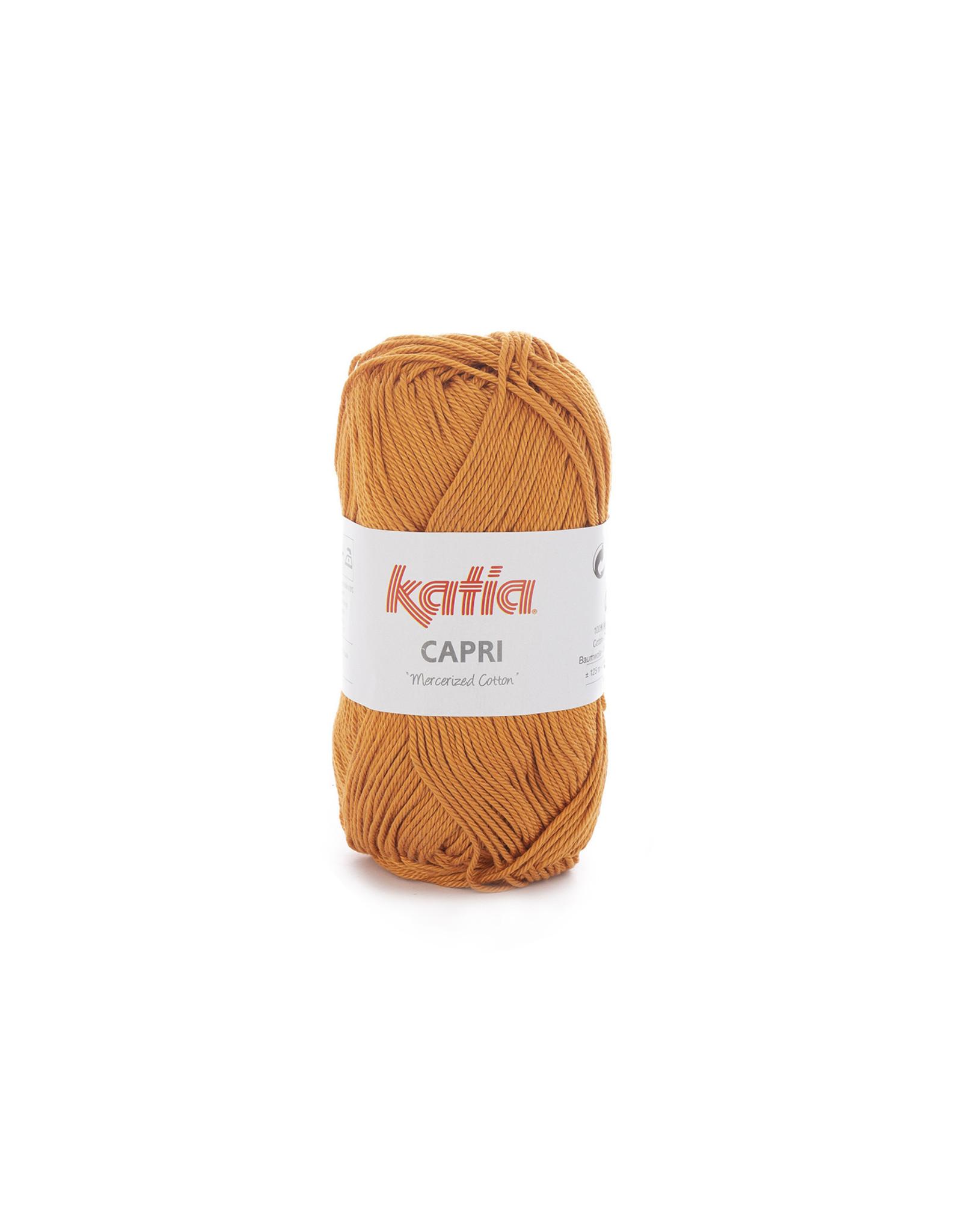Katia Katia Capri - kleur 168 Oker - bundel 5 x 50 gr. / 125 m. - 100% katoen