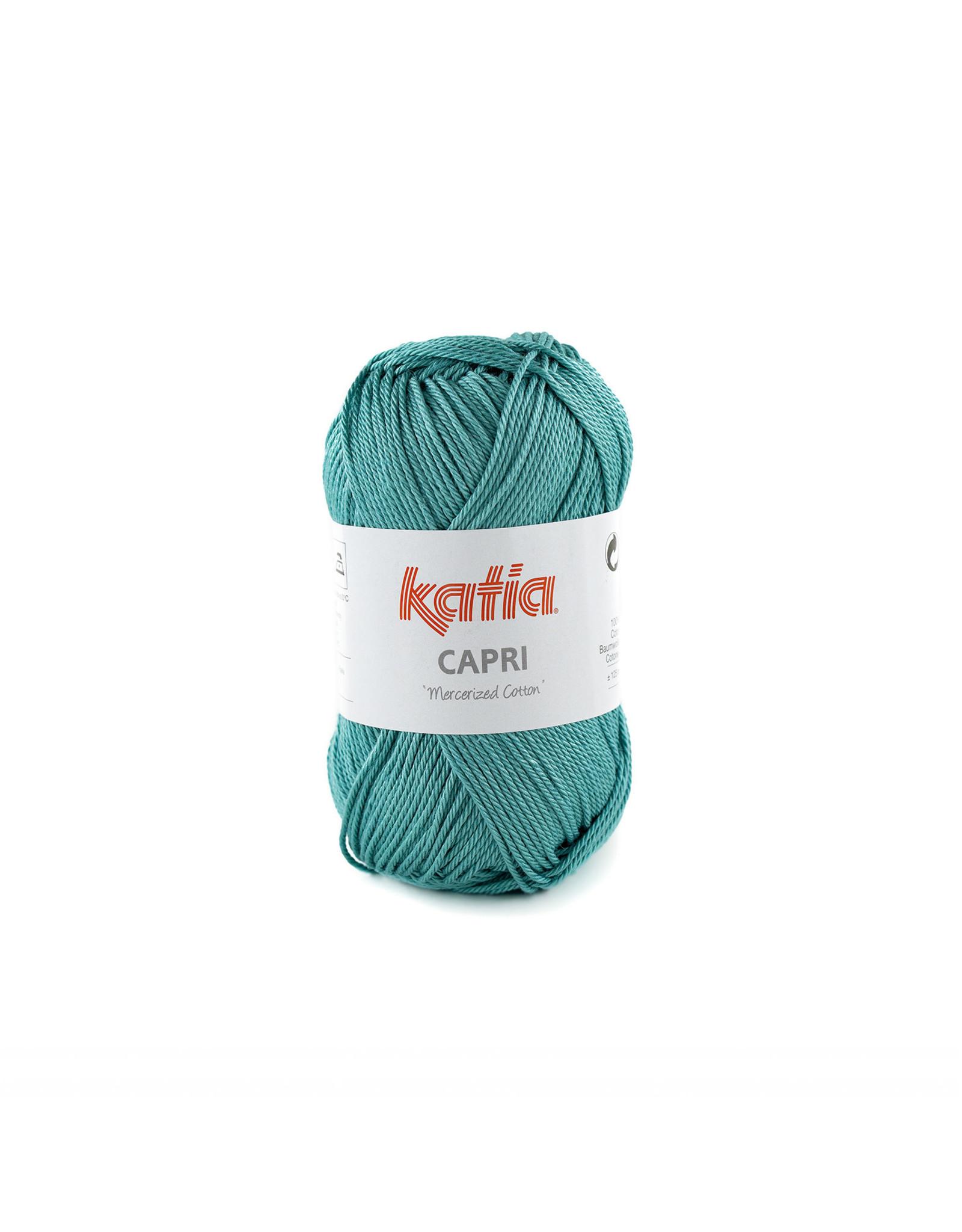 Katia Katia Capri - kleur 173 Turkooisblauw - bundel 5 x 50 gr. / 125 m. - 100% katoen