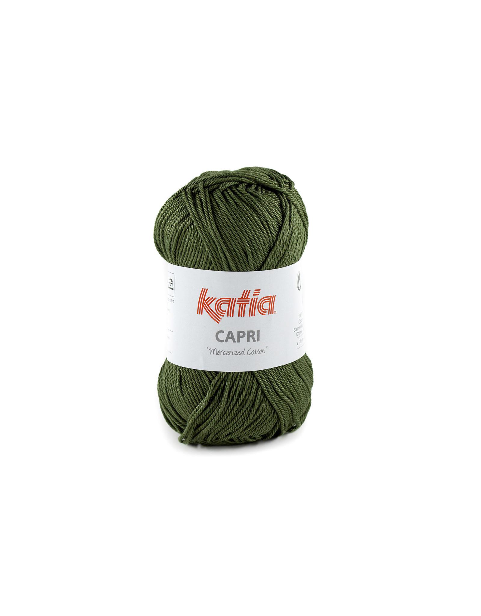 Katia Katia Capri - kleur 175 Olijfgroen - bundel 5 x 50 gr. / 125 m. - 100% katoen