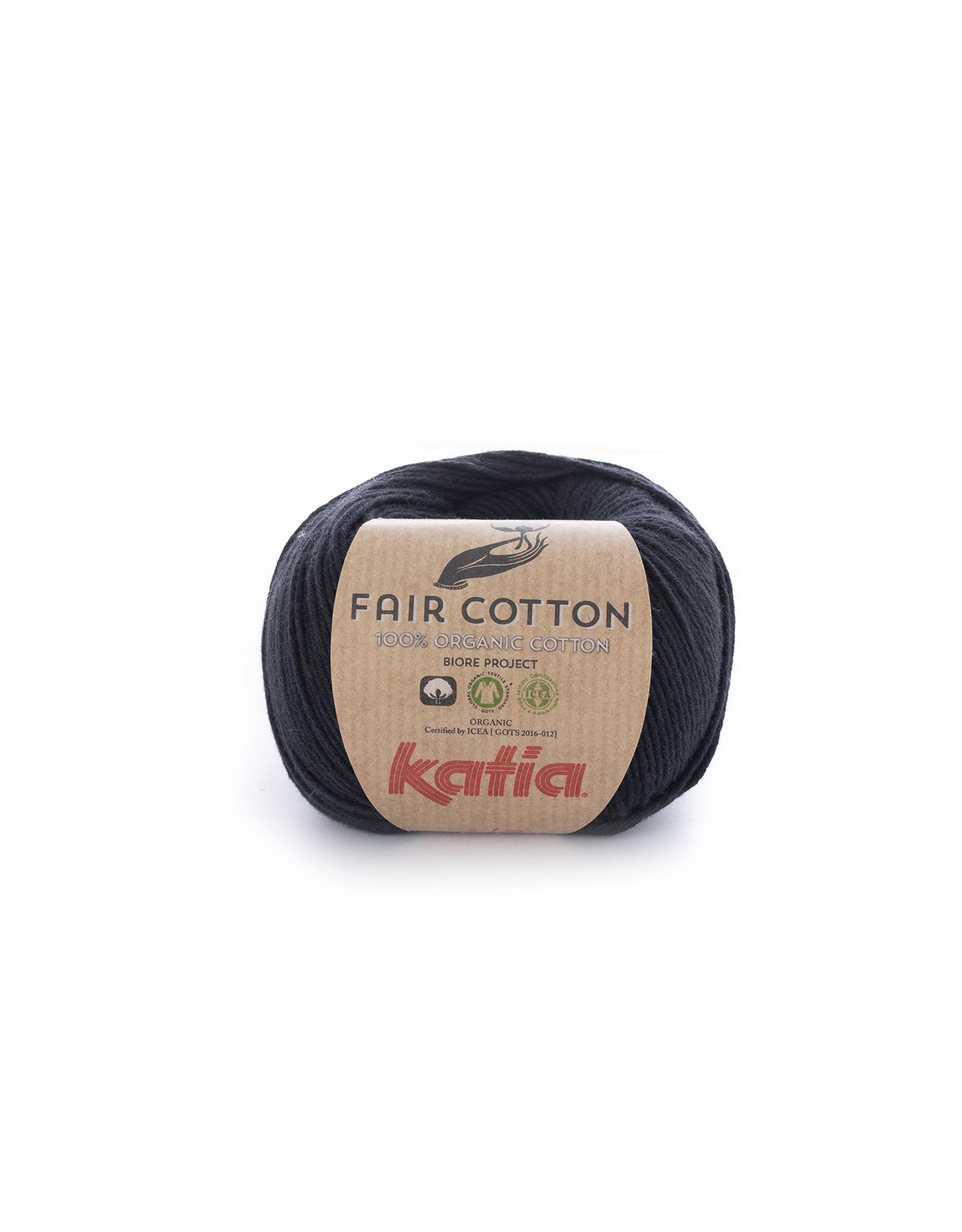 Katia Katia Fair Cotton Kleur 2 - zwart - 100% biol. GOTS katoengaren - bundel 5 x 50 gr./155 m.