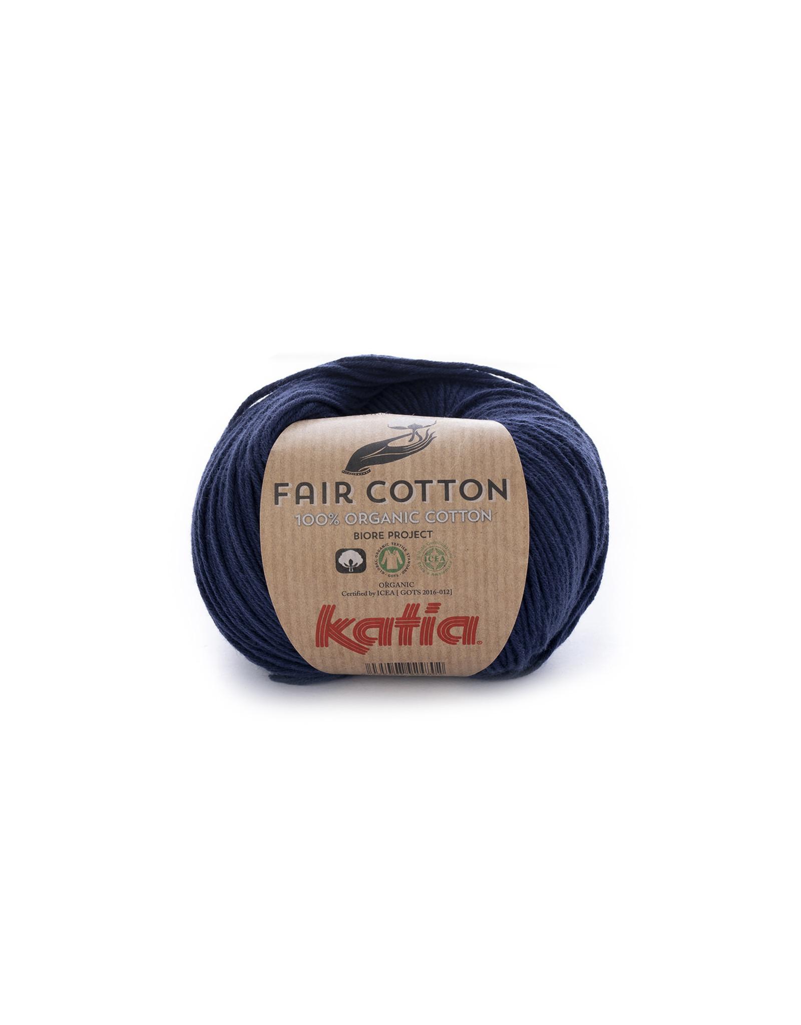 Katia Katia Fair Cotton Kleur 5 - donkerblauw - 100% biol. GOTS katoengaren - bundel 5 x 50 gr./155 m.
