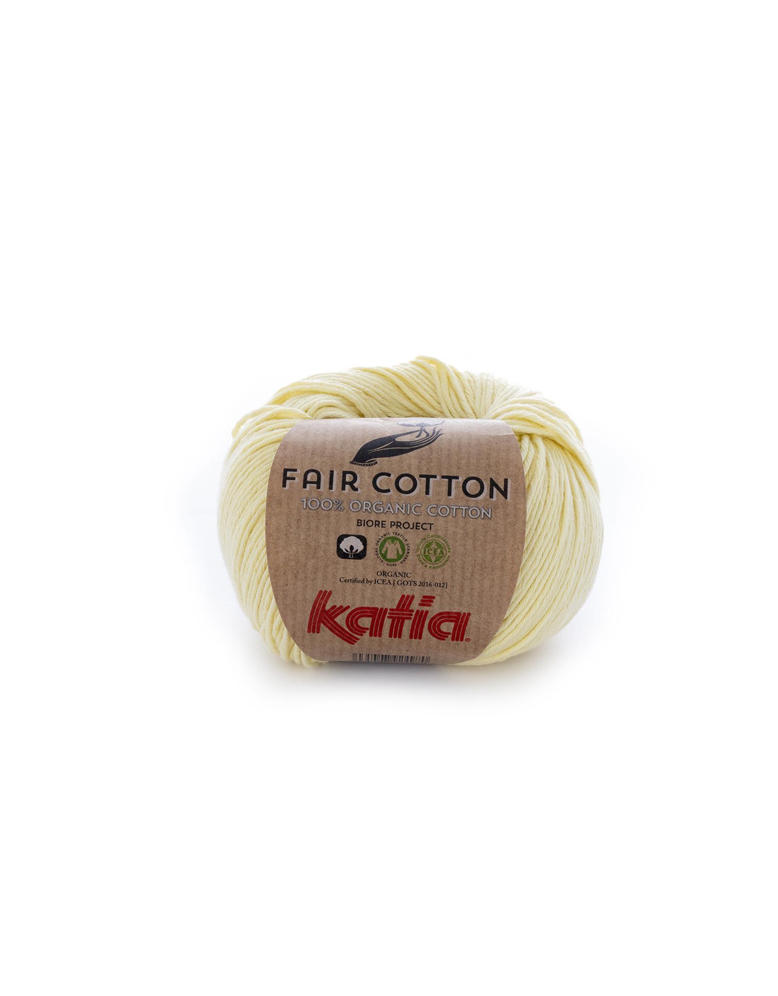 Katia Katia Fair Cotton Kleur 7 - lichtgeel - 100% biol. GOTS katoengaren - bundel 5 x 50 gr./155 m.