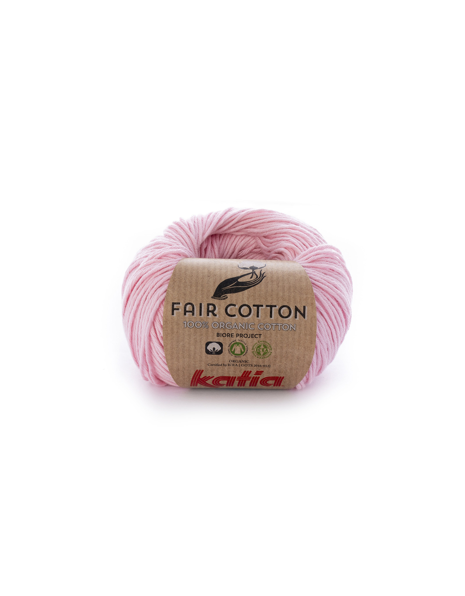 Katia Katia Fair Cotton Kleur 9 - bleekrood - 100% biol. GOTS katoengaren - bundel 5 x 50 gr./155 m.