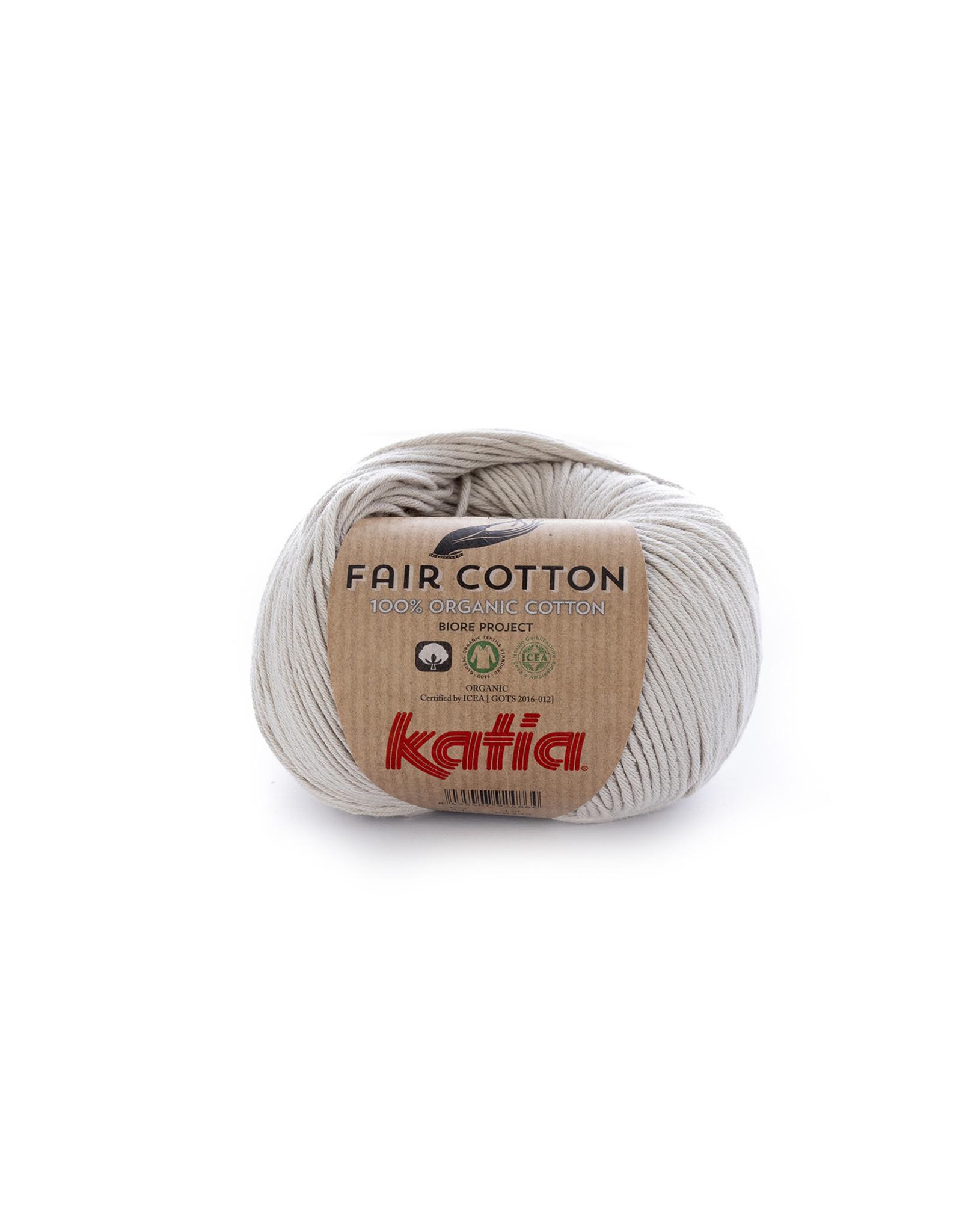 Katia Katia Fair Cotton Kleur 11 - parelmoer - lichtgrijs - 100% biol. GOTS katoengaren - bundel 5 x 50 gr./155 m.