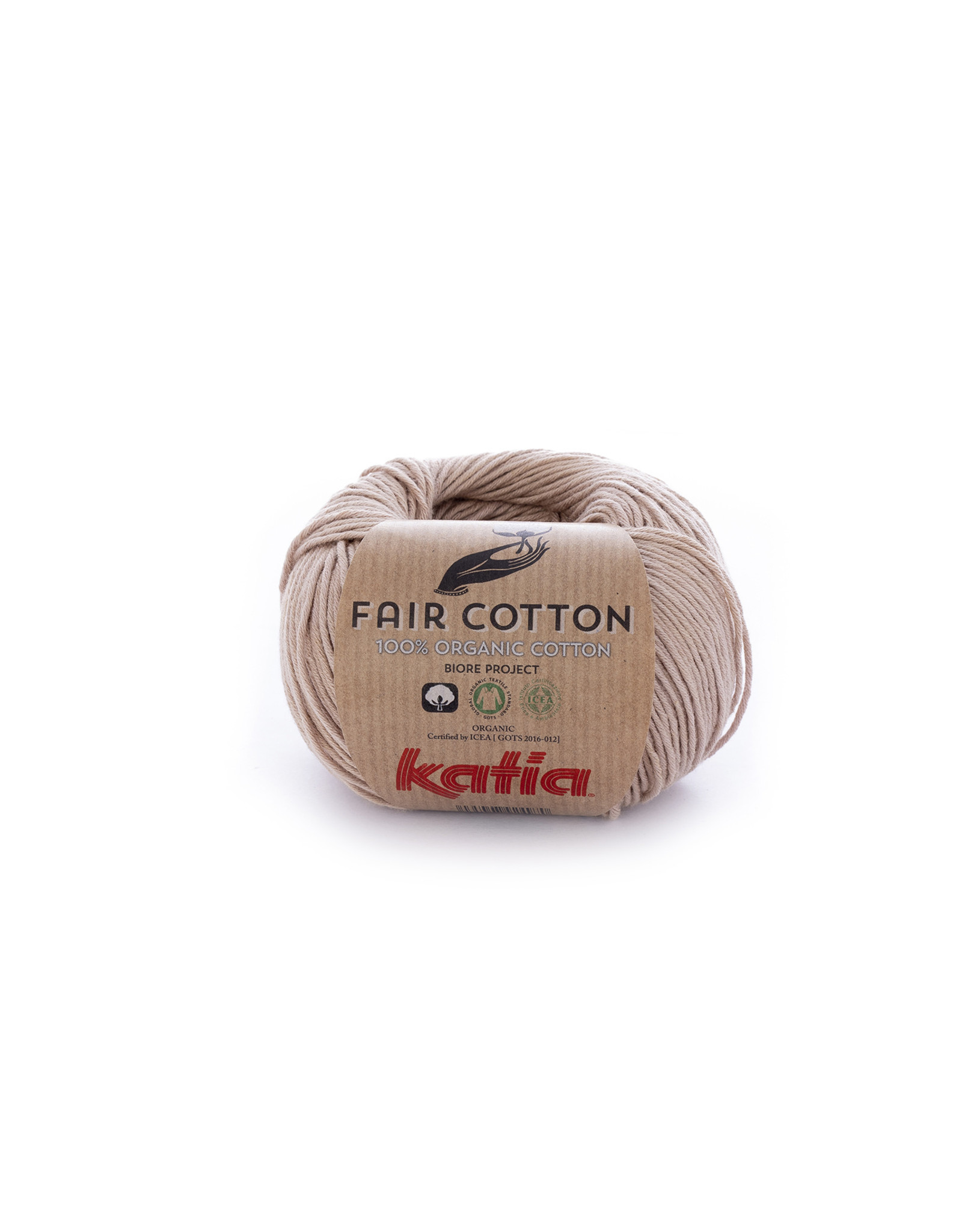 Katia Katia Fair Cotton Kleur 12 - sepiabruin - 100% biol. GOTS katoengaren - bundel 5 x 50 gr./155 m.