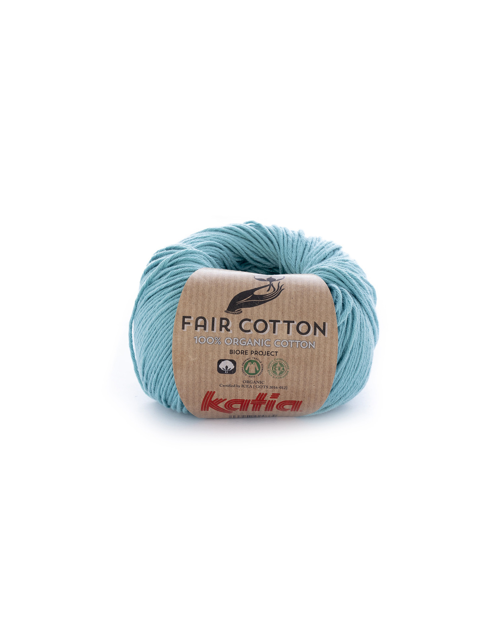 Katia Katia Fair Cotton Kleur 16 - turquoise - 100% biol. GOTS katoengaren - bundel 5 x 50 gr./155 m.