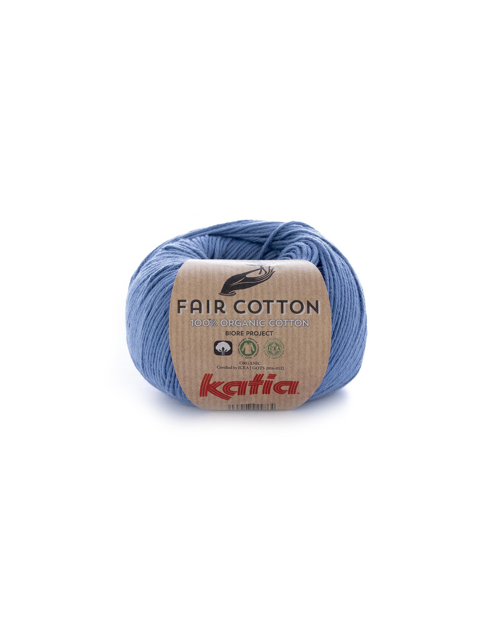 Katia Katia Fair Cotton Kleur 18 - jeans - 100% biol. GOTS katoengaren - bundel 5 x 50 gr./155 m.