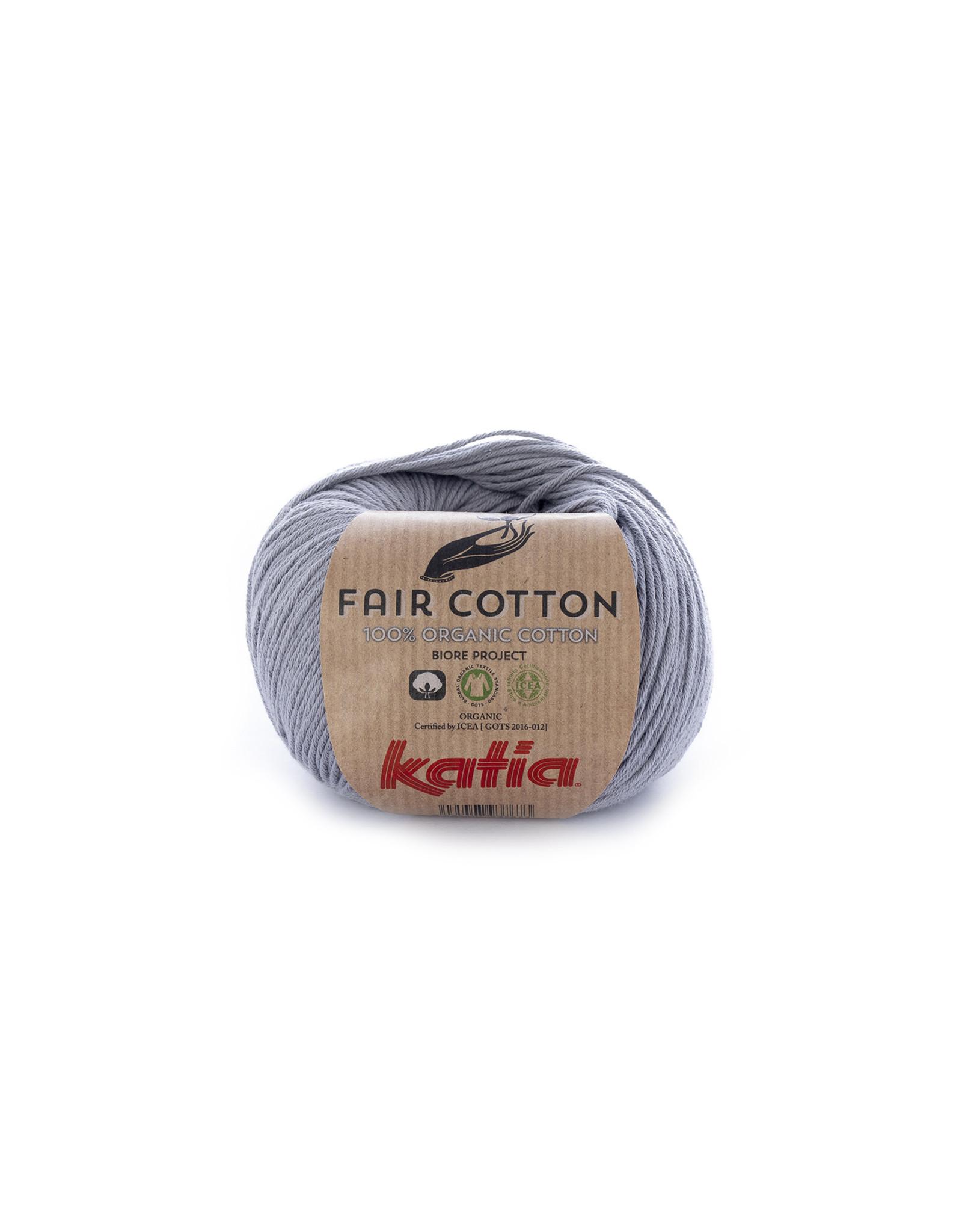 Katia Katia Fair Cotton Kleur 26 - medium grijs - 100% biol. GOTS katoengaren - bundel 5 x 50 gr./155 m.