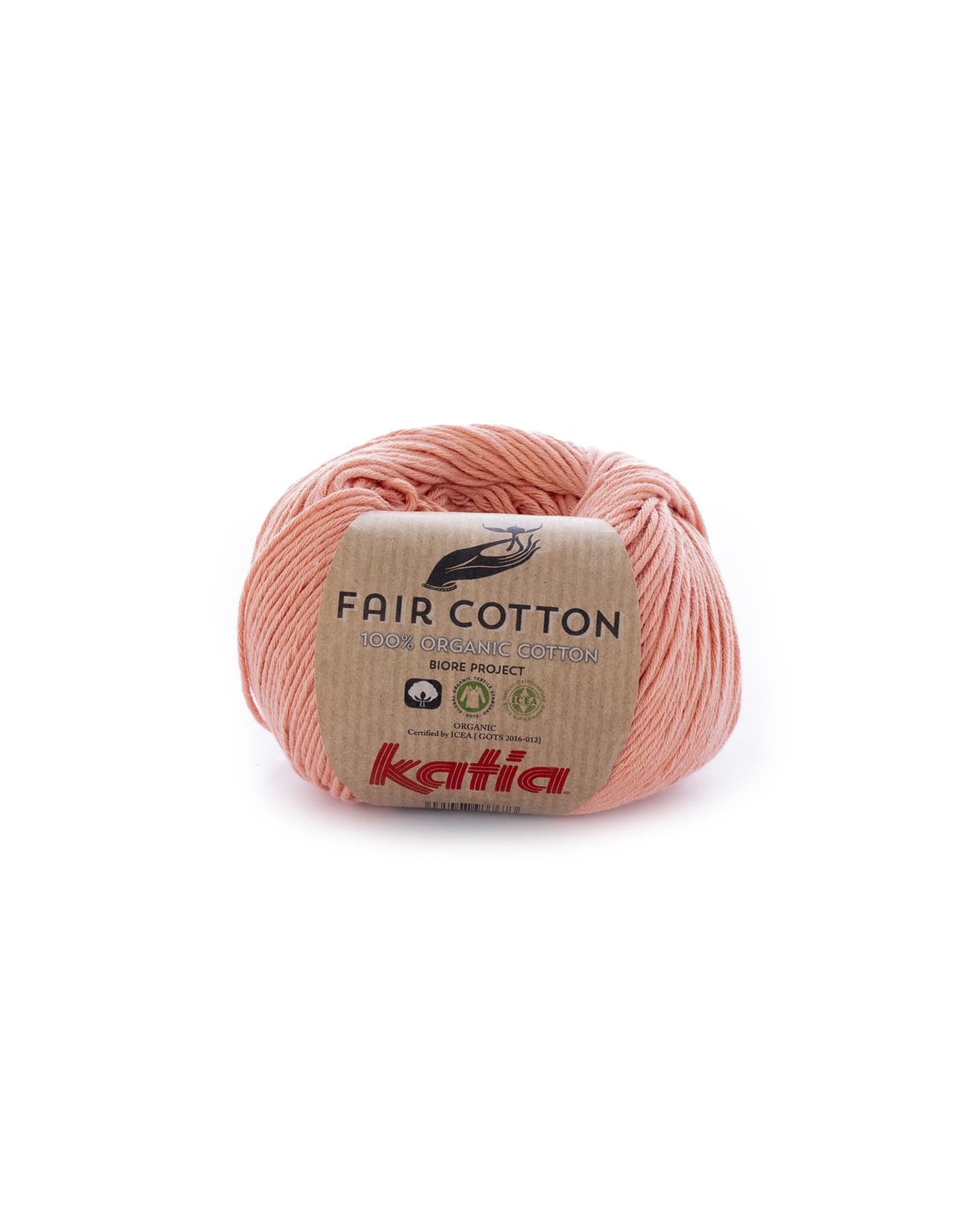 Katia Katia Fair Cotton Kleur 28 - licht zalmoranje - 100% biol. GOTS katoengaren - bundel 5 x 50 gr./155 m.