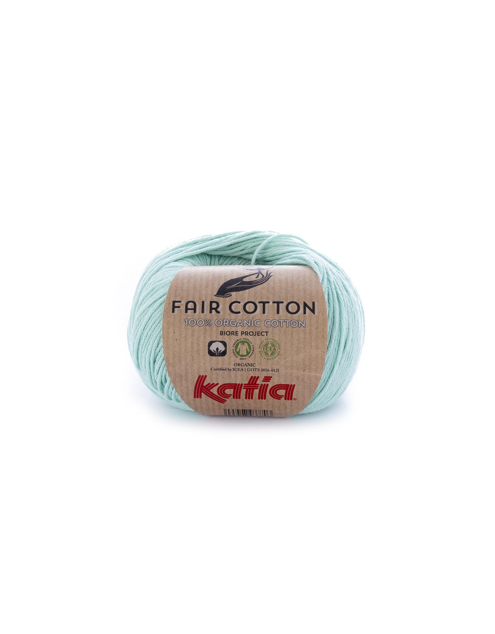 Katia Katia Fair Cotton Kleur 29 - witgroen - 100% biol. GOTS katoengaren - bundel 5 x 50 gr./155 m.