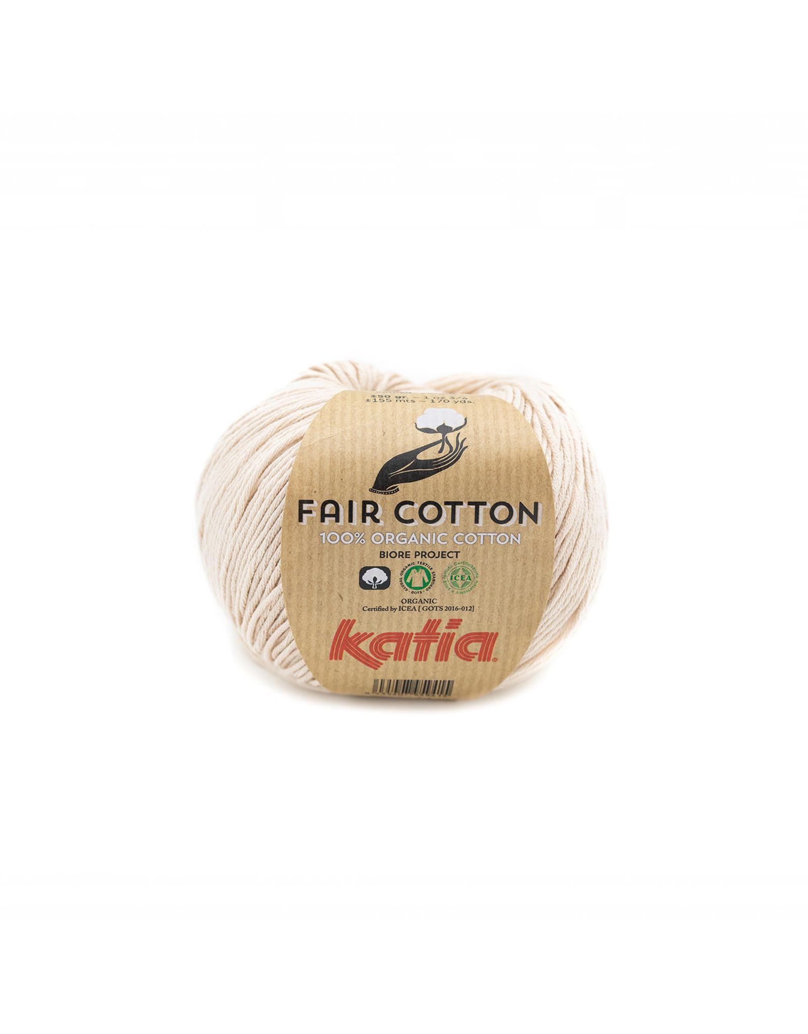 Katia Katia Fair Cotton Kleur 35 - beige - 100% biol. GOTS katoengaren - bundel 5 x 50 gr./155 m.
