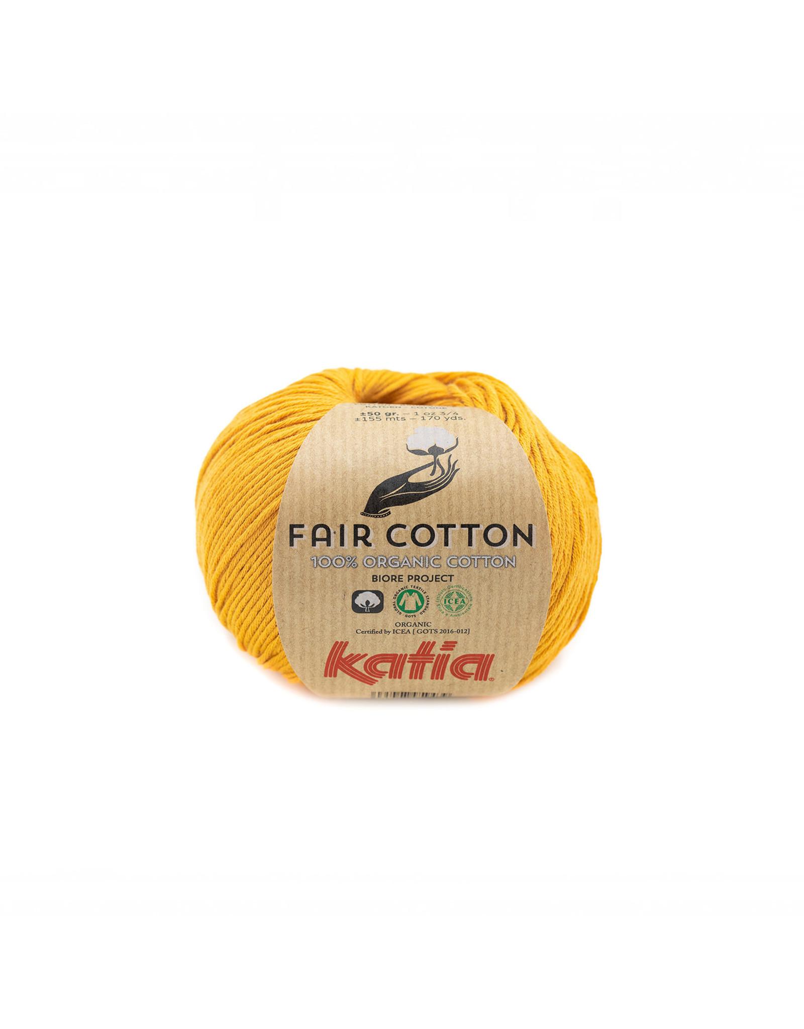 Katia Katia Fair Cotton Kleur 37 - mosterdgeel - 100% biol. GOTS katoengaren - bundel 5 x 50 gr./155 m.