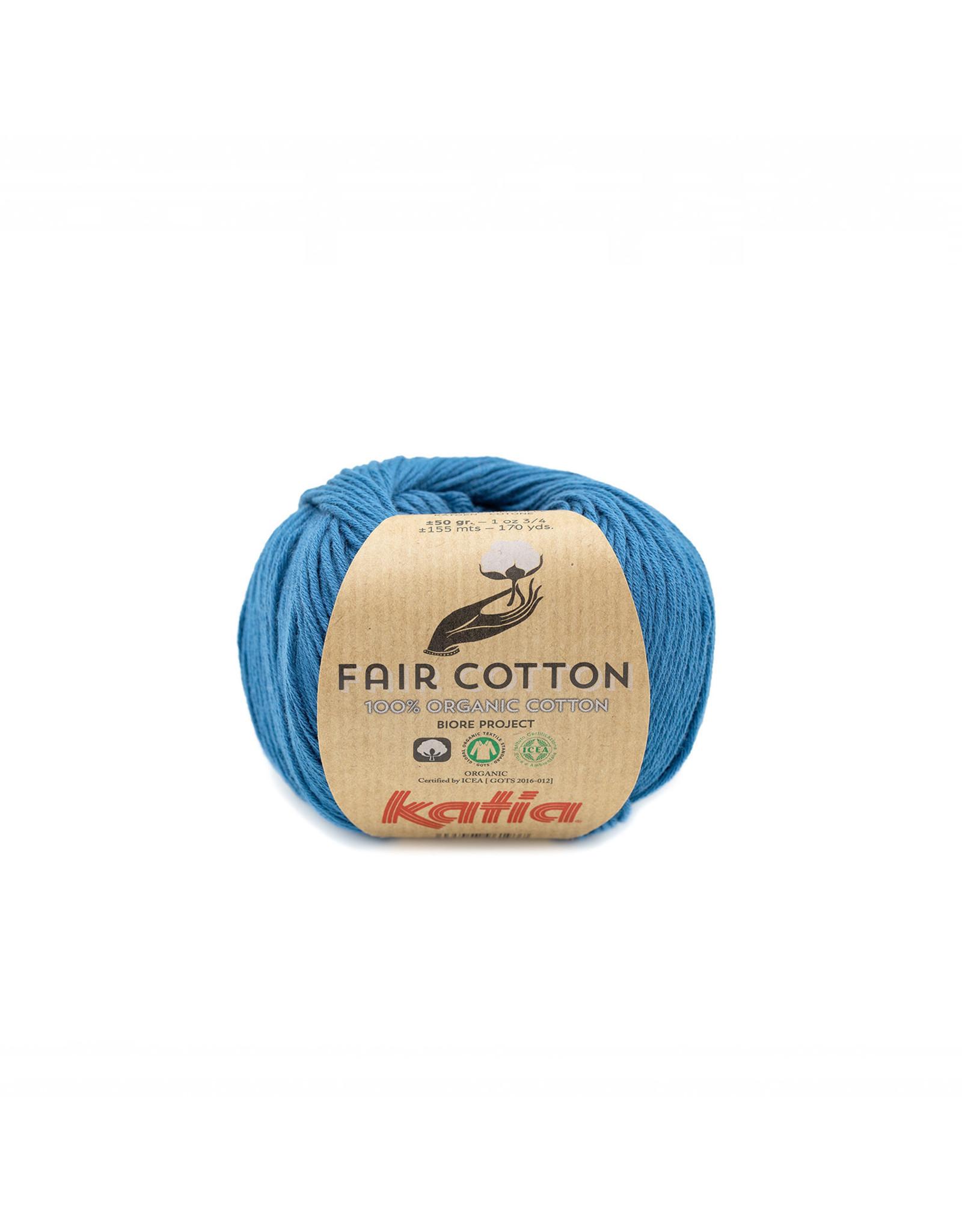 Katia Katia Fair Cotton Kleur 38 - groenblauw - 100% biol. GOTS katoengaren - bundel 5 x 50 gr./155 m.