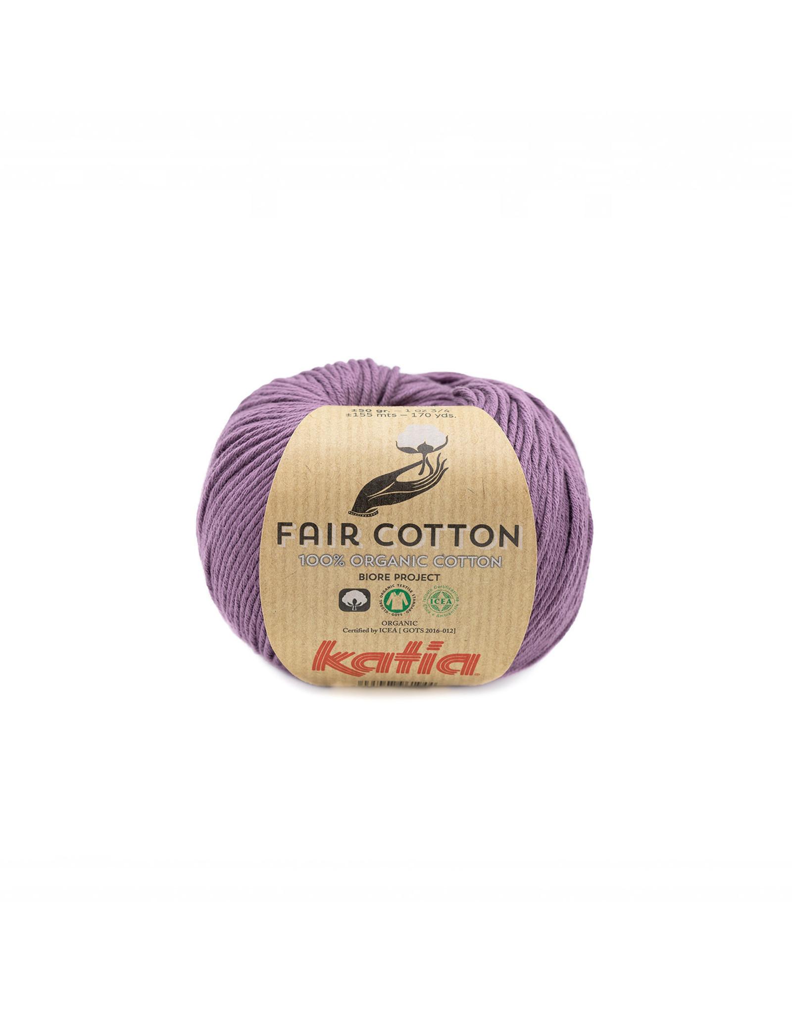 Katia Katia Fair Cotton Kleur 39 - donkerpaars - 100% biol. GOTS katoengaren - bundel 5 x 50 gr./155 m.