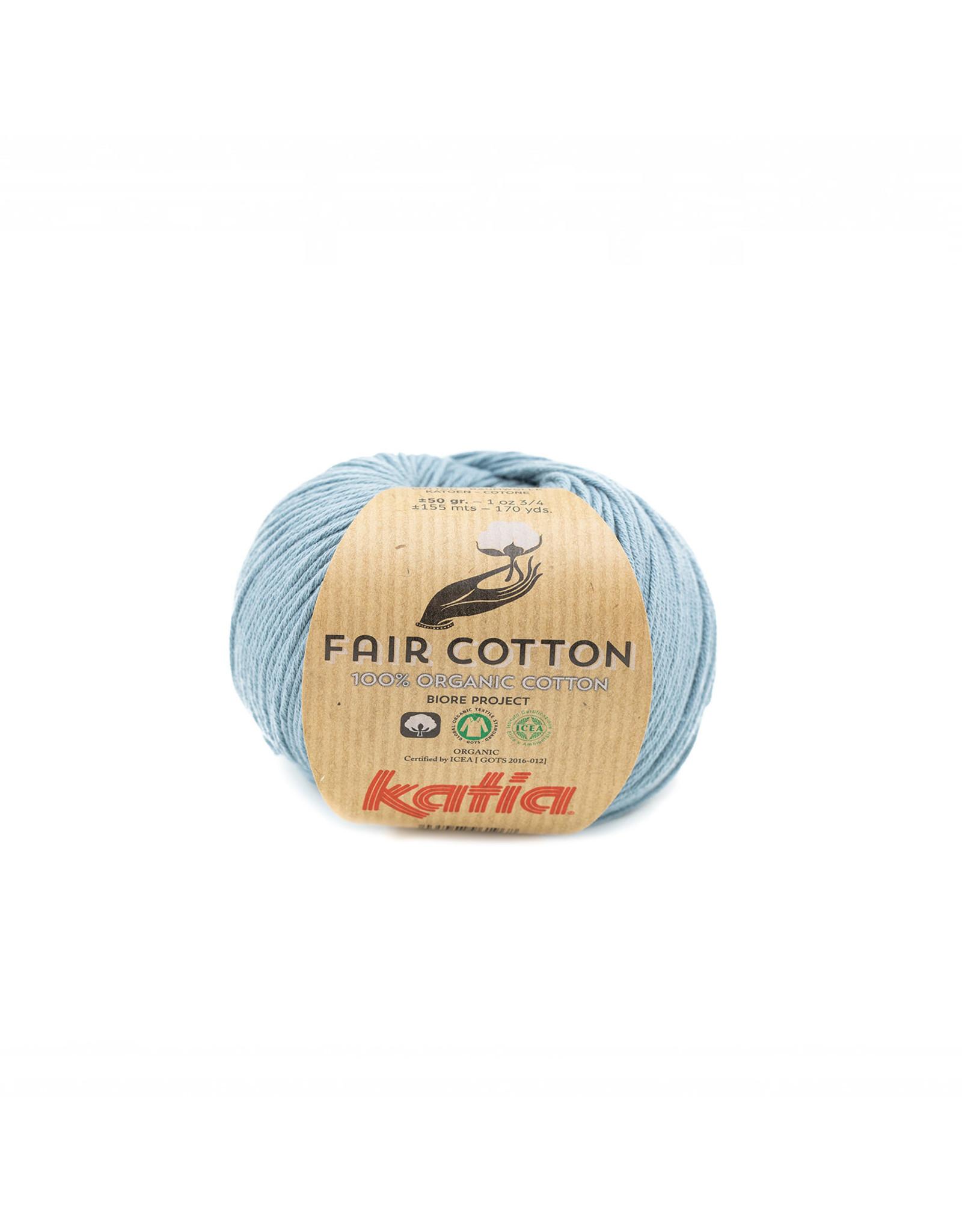 Katia Katia Fair Cotton Kleur 41 - grijsblauw - 100% biol. GOTS katoengaren - bundel 5 x 50 gr./155 m.
