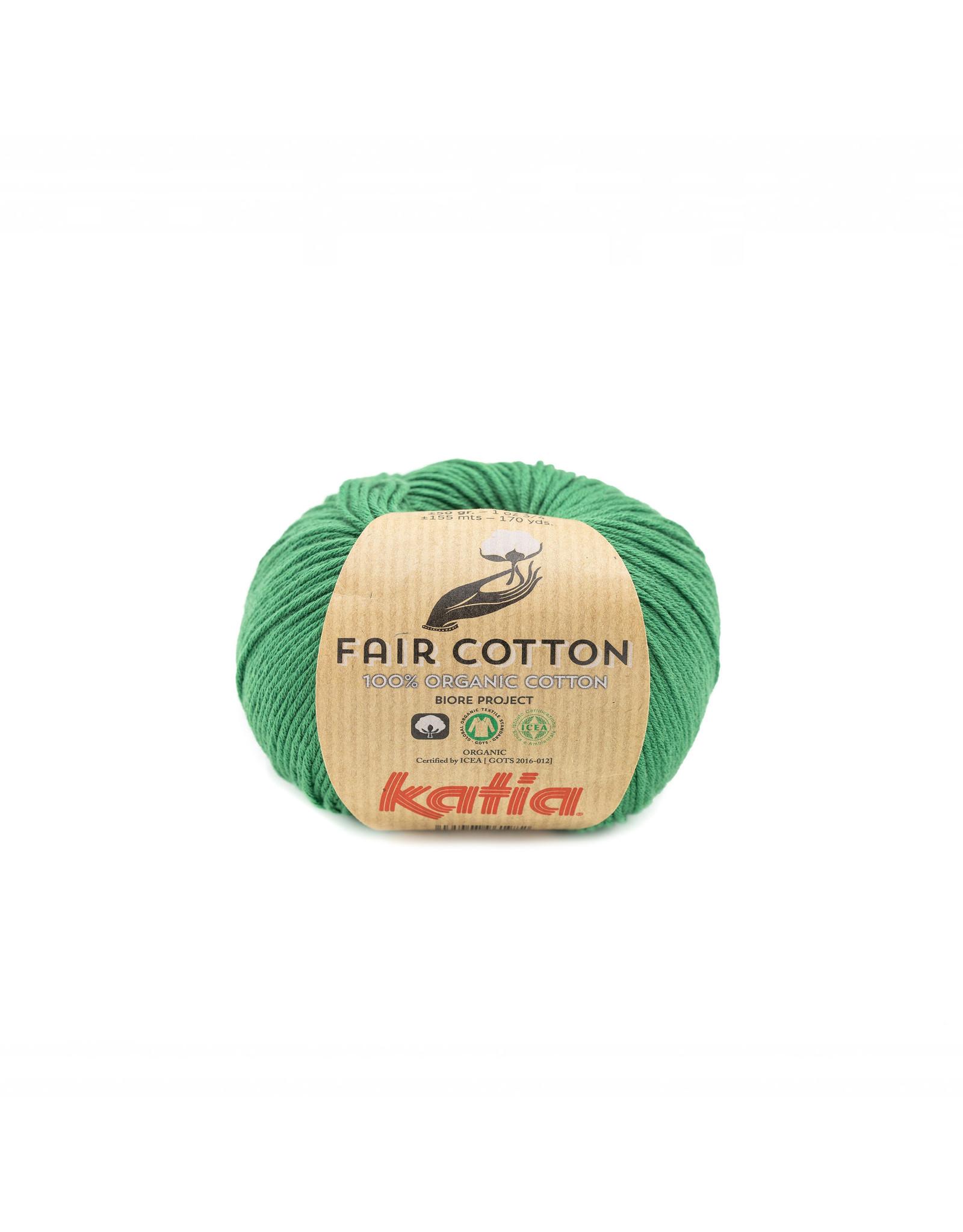 Katia Katia Fair Cotton Kleur 42 - flessegroen - 100% biol. GOTS katoengaren - bundel 5 x 50 gr./155 m.