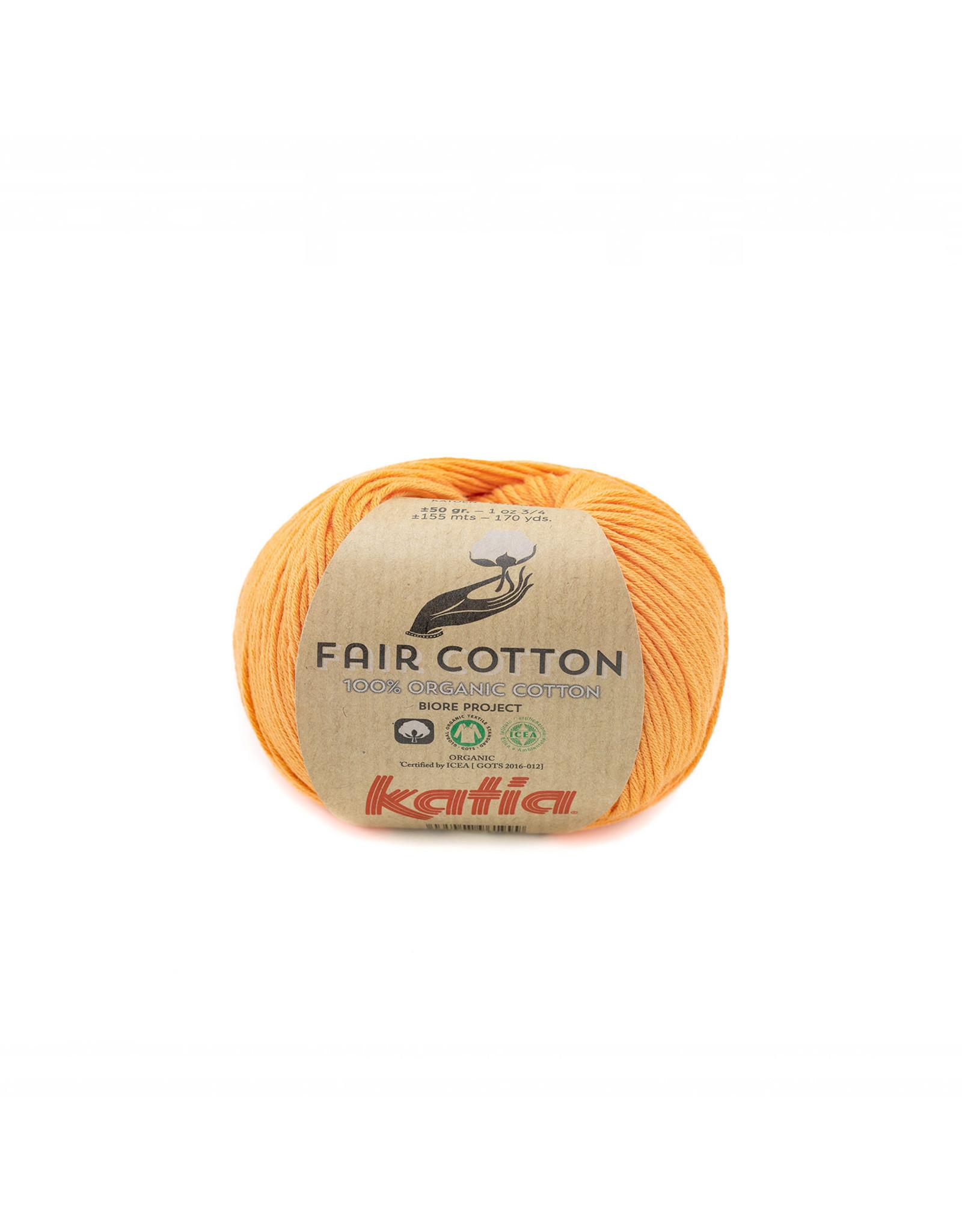 Katia Katia Fair Cotton Kleur 43 - pasteloranje - 100% biol. GOTS katoengaren - bundel 5 x 50 gr./155 m.