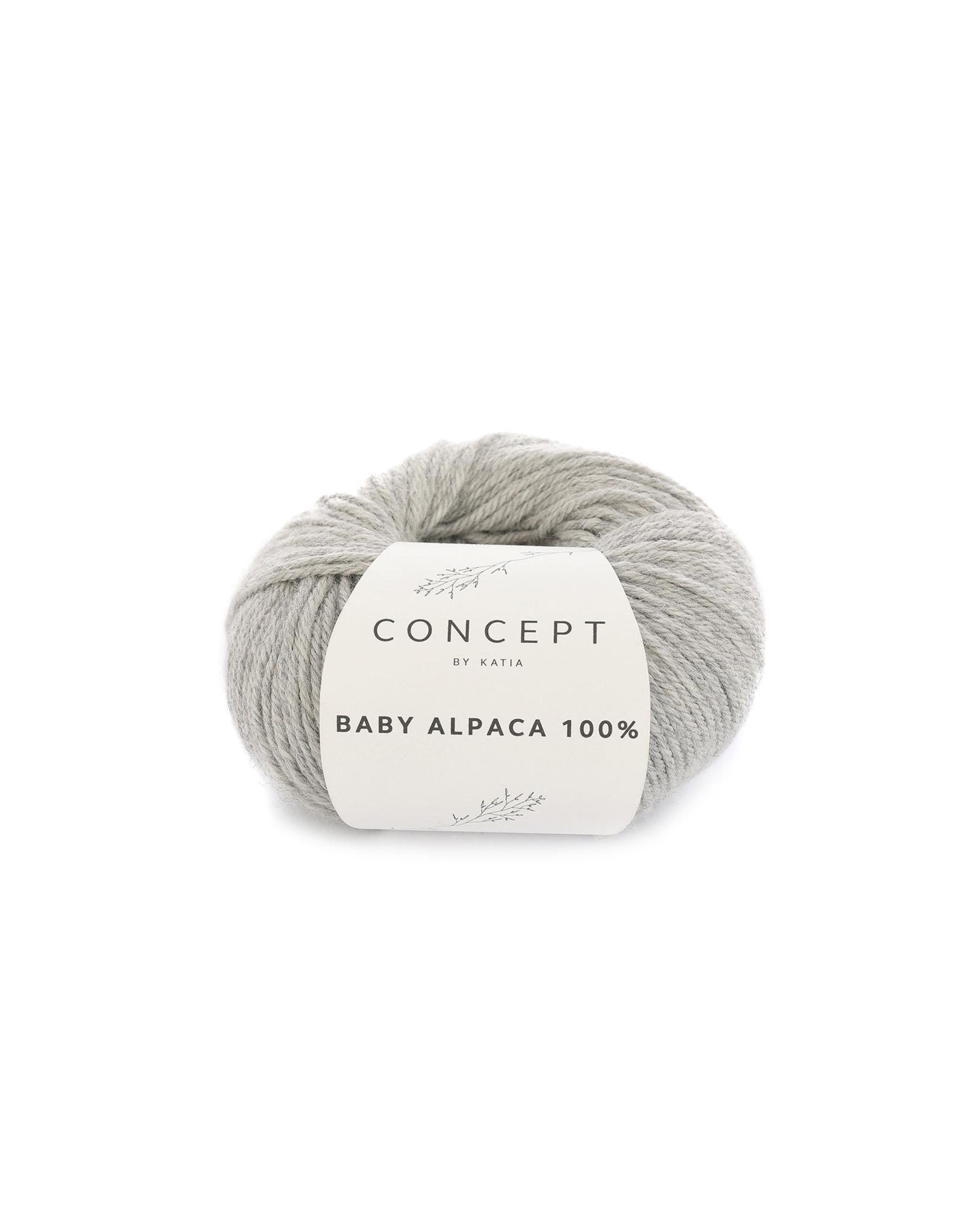 Katia Baby Alpaca 100% - kleur 503 - Licht grijs - 50 gr. = 125 m. - 100% Baby Alpaca