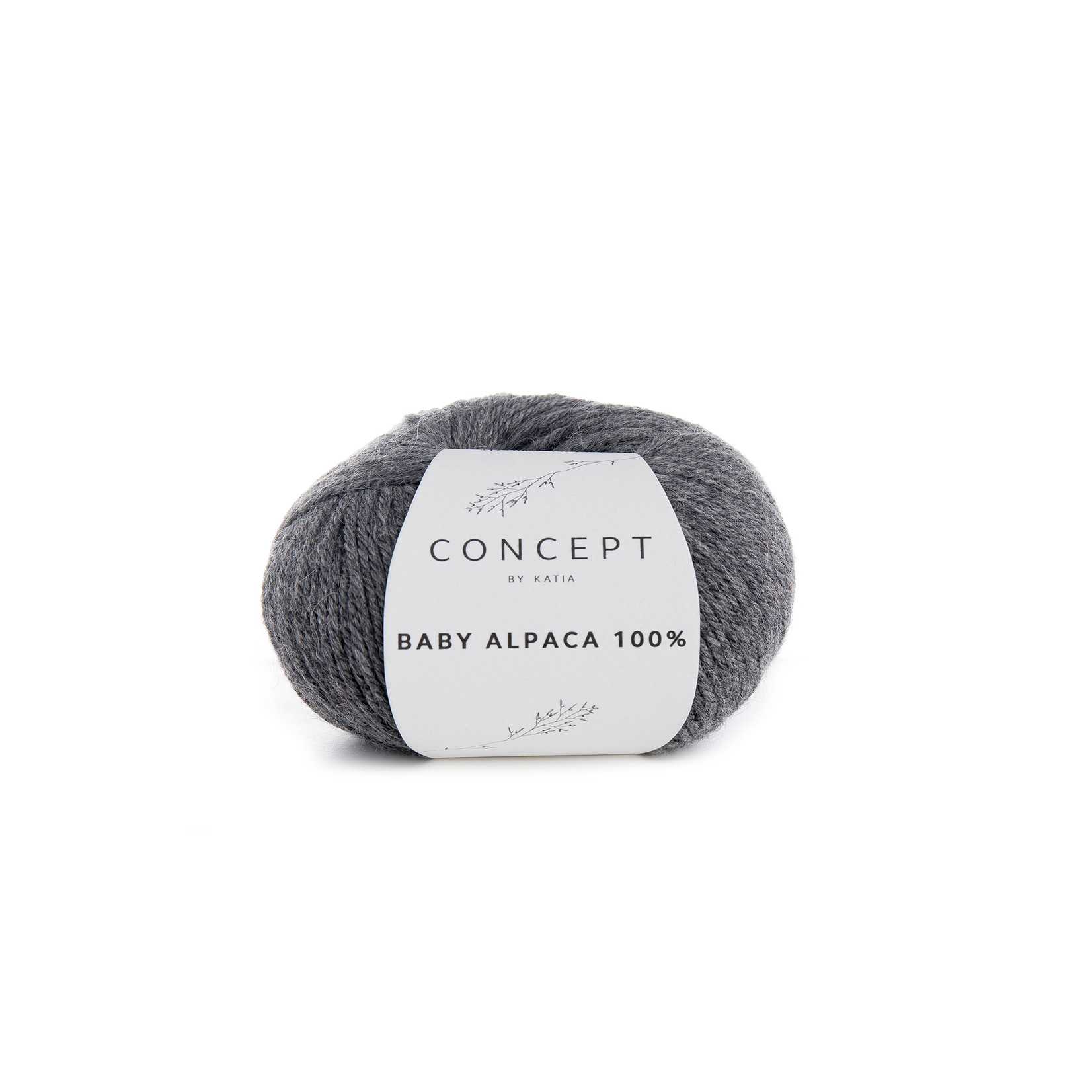 Katia Baby Alpaca 100% - kleur 504 - Medium grijs - 50 gr. = 125 m. - 100% Baby Alpaca