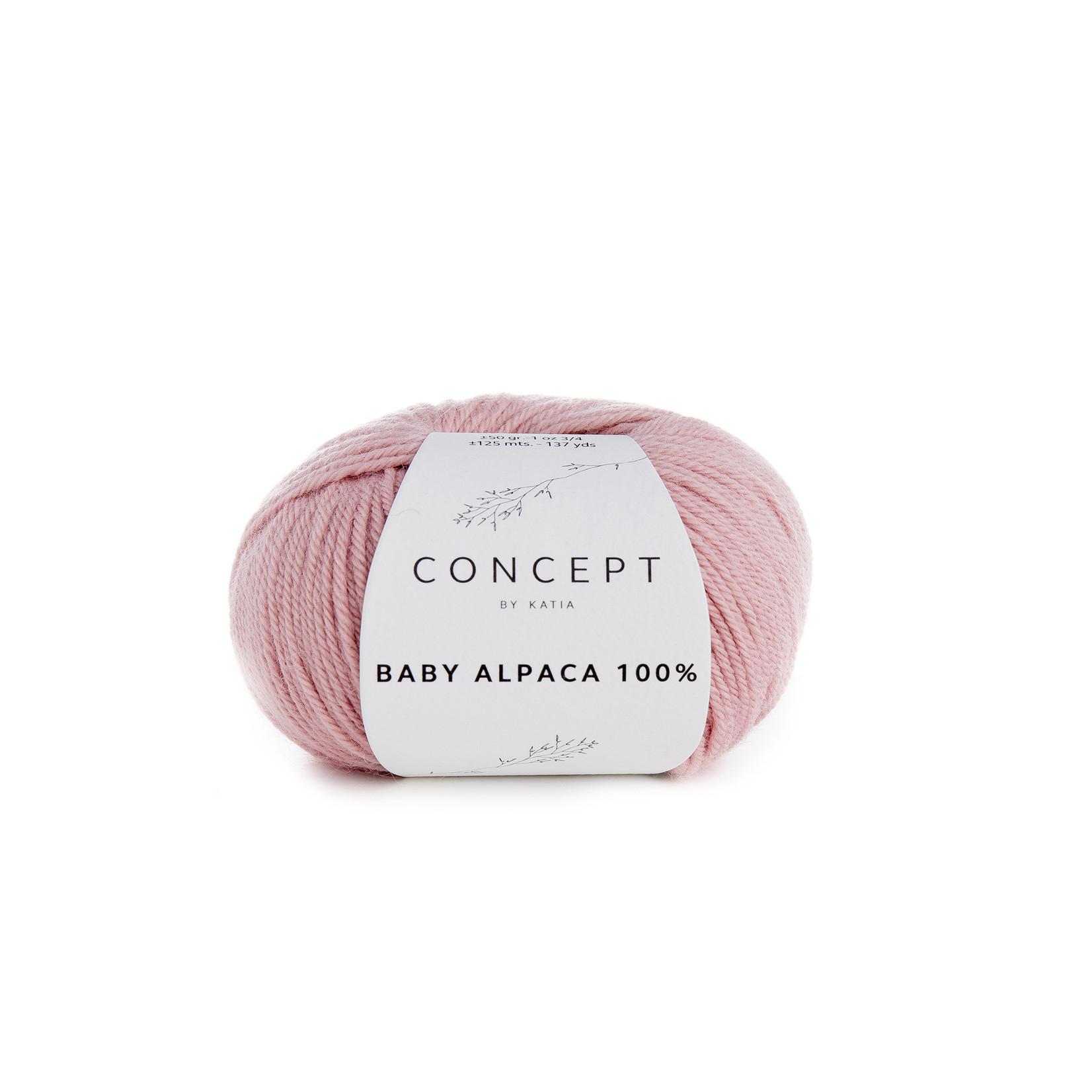 Katia Baby Alpaca 100% - kleur 506 - Lichtroze - 50 gr. = 125 m. - 100% Baby Alpaca