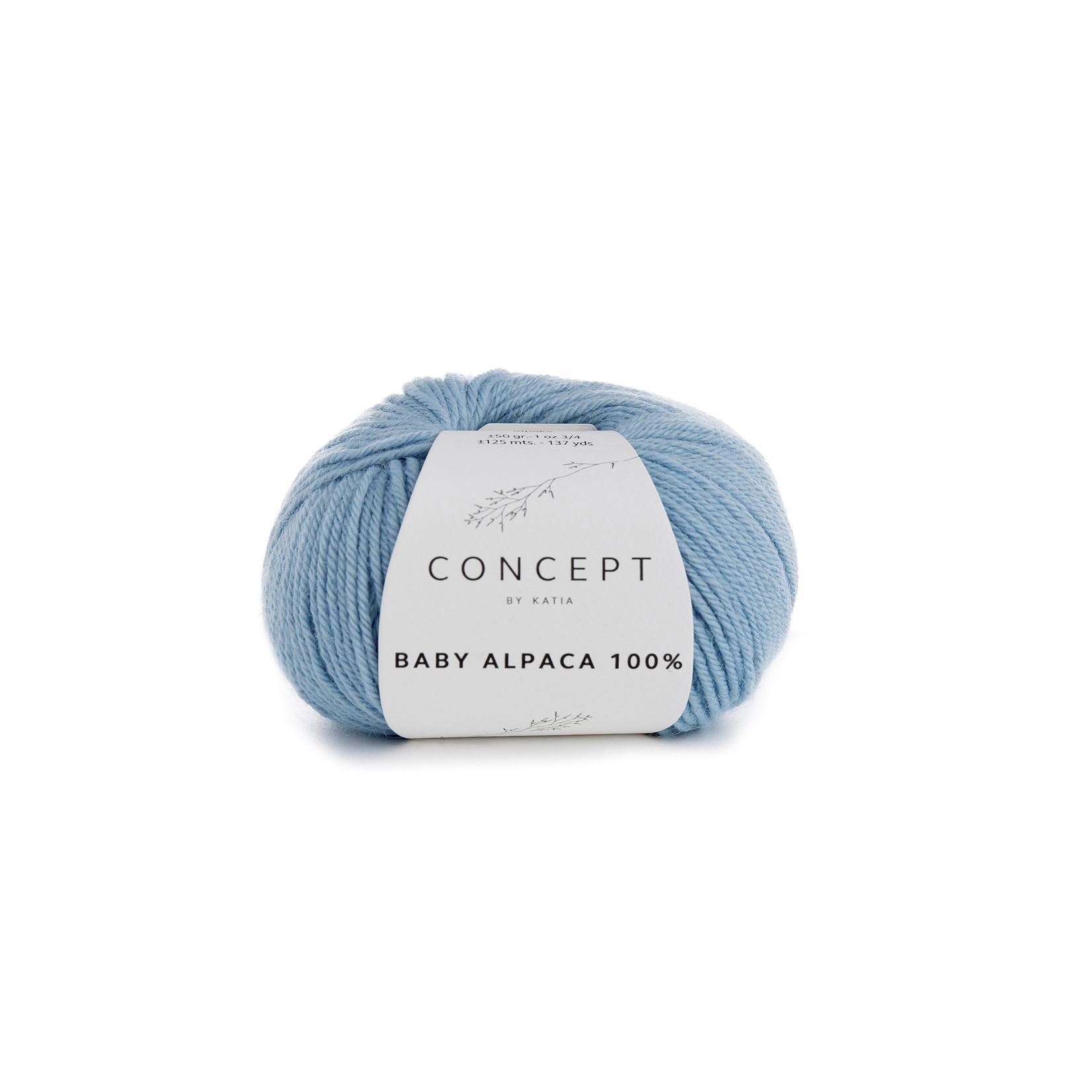 Katia Baby Alpaca 100% - kleur 511 - Hemelsblauw - 50 gr. = 125 m. - 100% Baby Alpaca