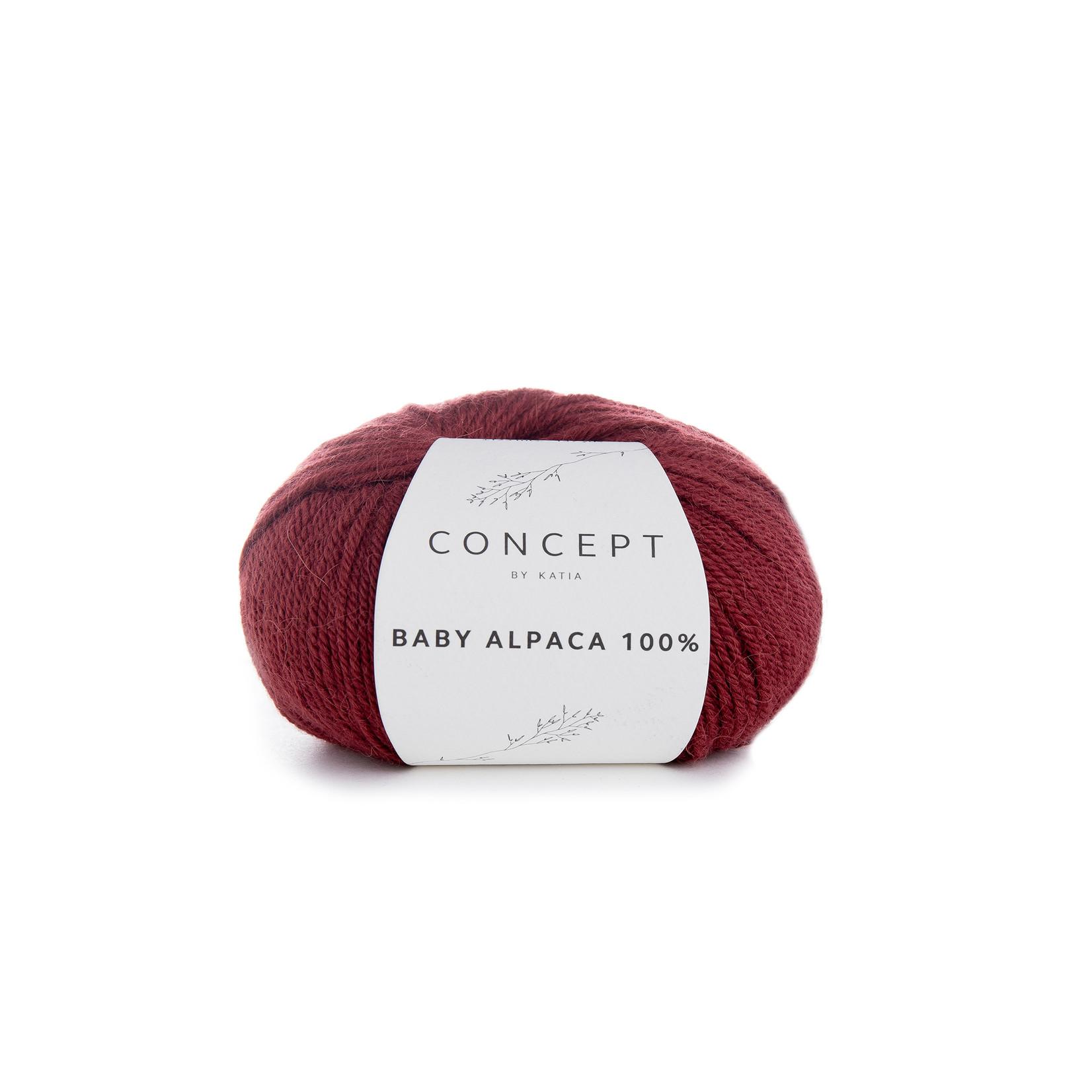 Katia Baby Alpaca 100% - kleur 512 - Bordeauxpaars - 50 gr. = 125 m. - 100% Baby Alpaca
