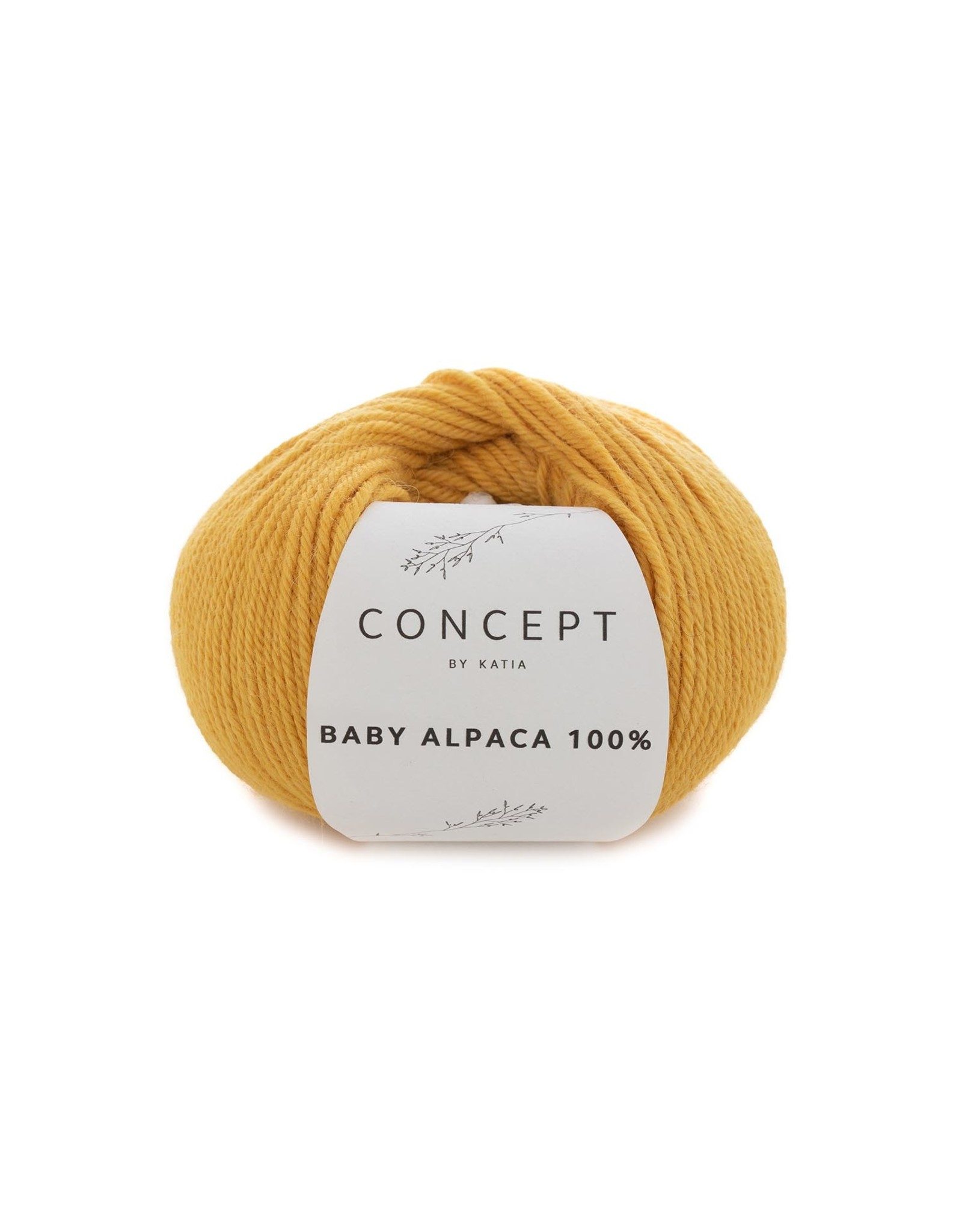 Katia Baby Alpaca 100% - kleur 521 - Geel - 50 gr. = 125 m. - 100% Baby Alpaca