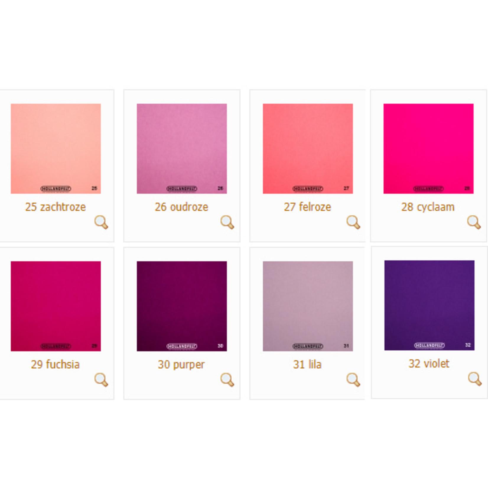 HollandFelt Wolvilt - Pink Festival - 8 lapjes 20 x 30 cm. - zuiver scheerwol- 1 mm. dik