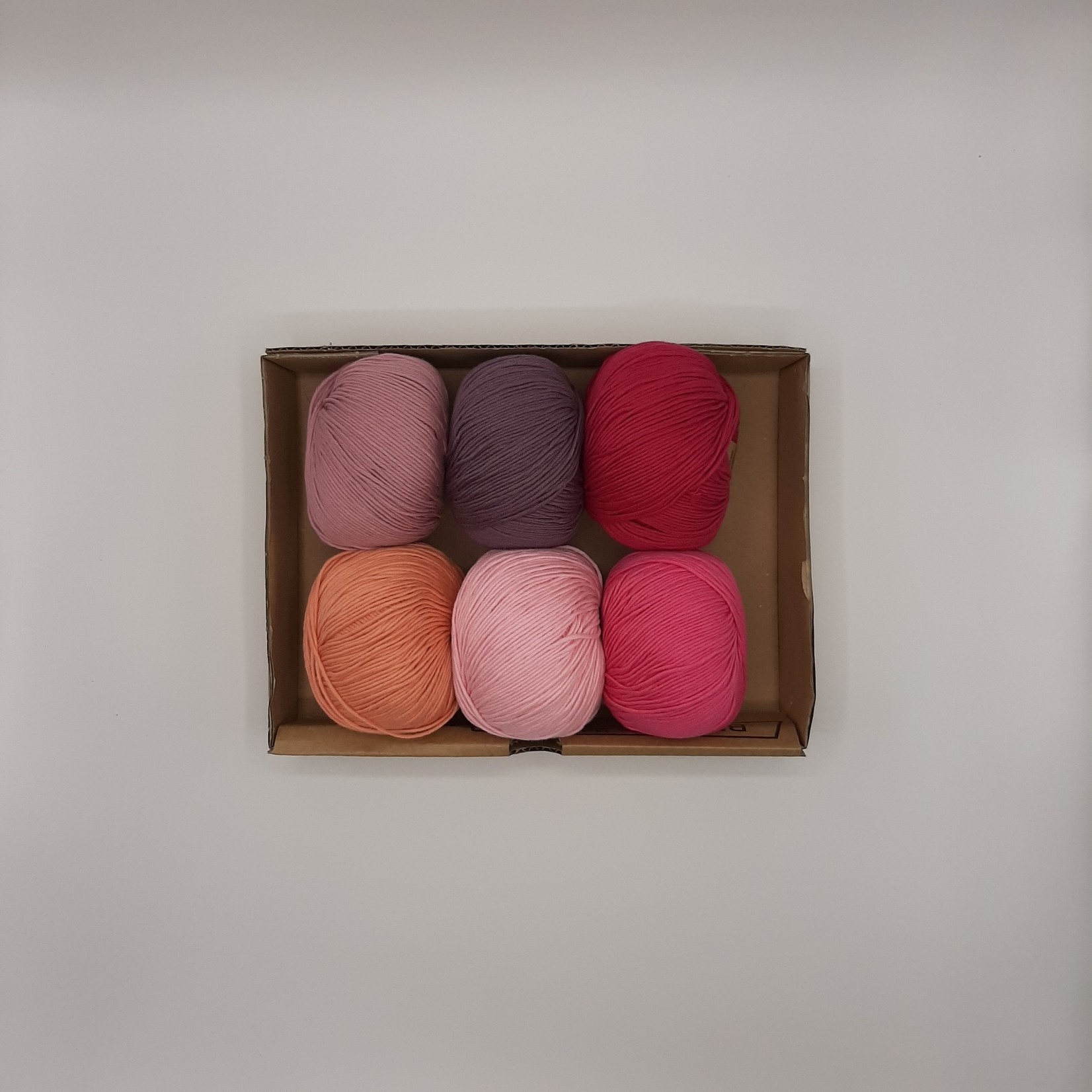 Katia Katia Fair Cotton - kleurenbundel Pink Pride- 6 x 50 gr. biol. katoen